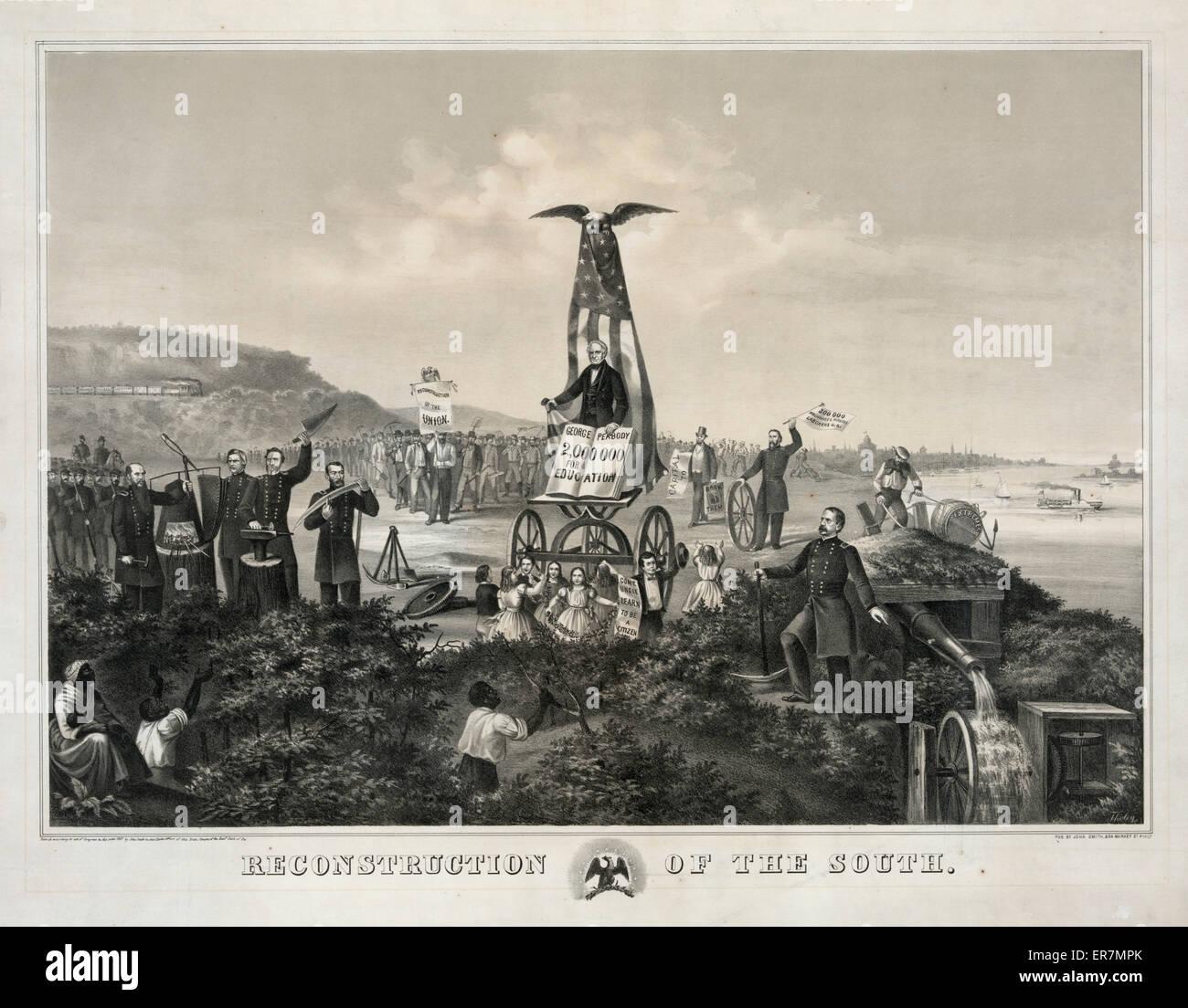 Wiederaufbau des Südens. Datum 1857: Östlichen Bezirk von Penn. Stockbild
