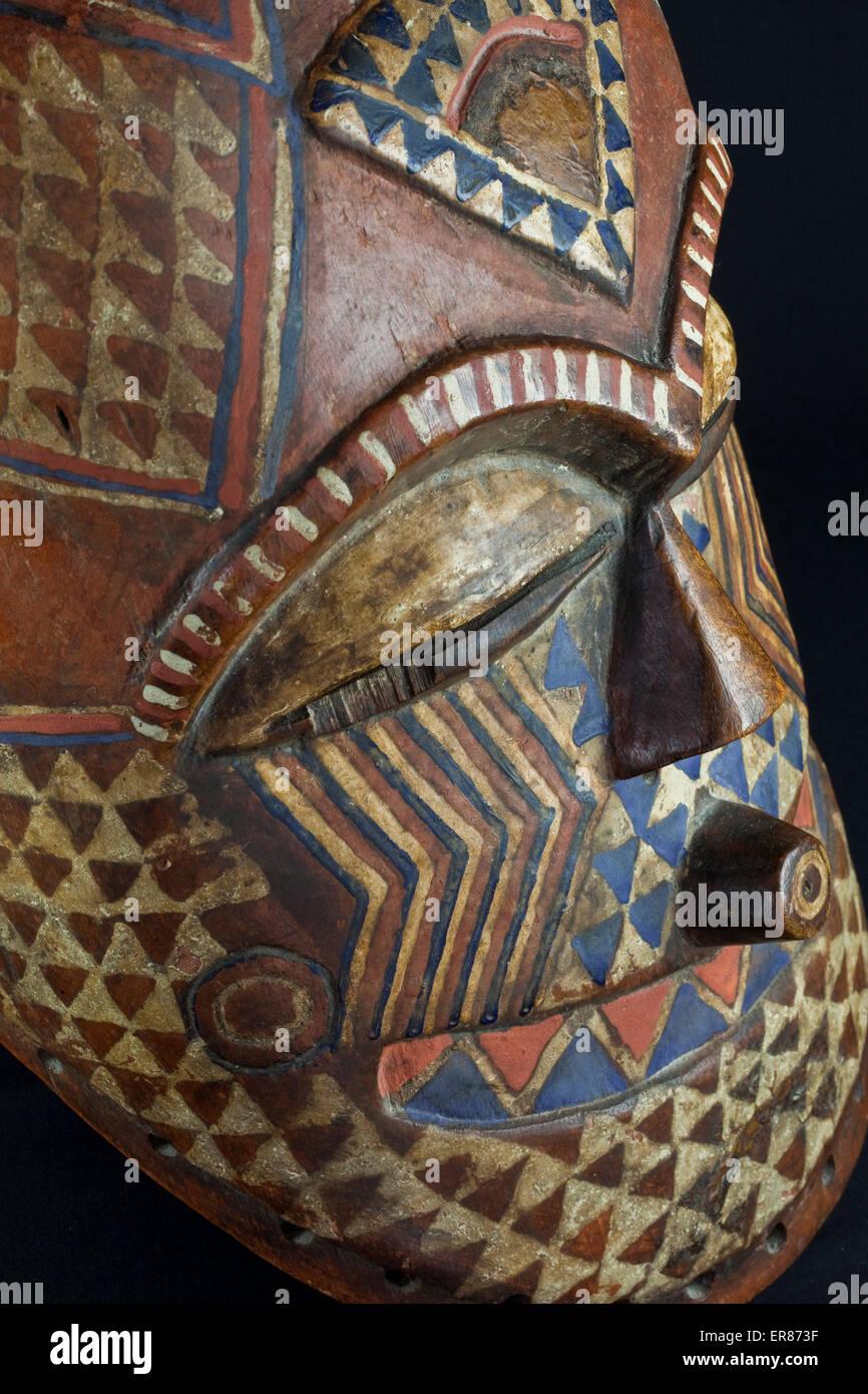 Kuba-Maske Kongo Stockbild