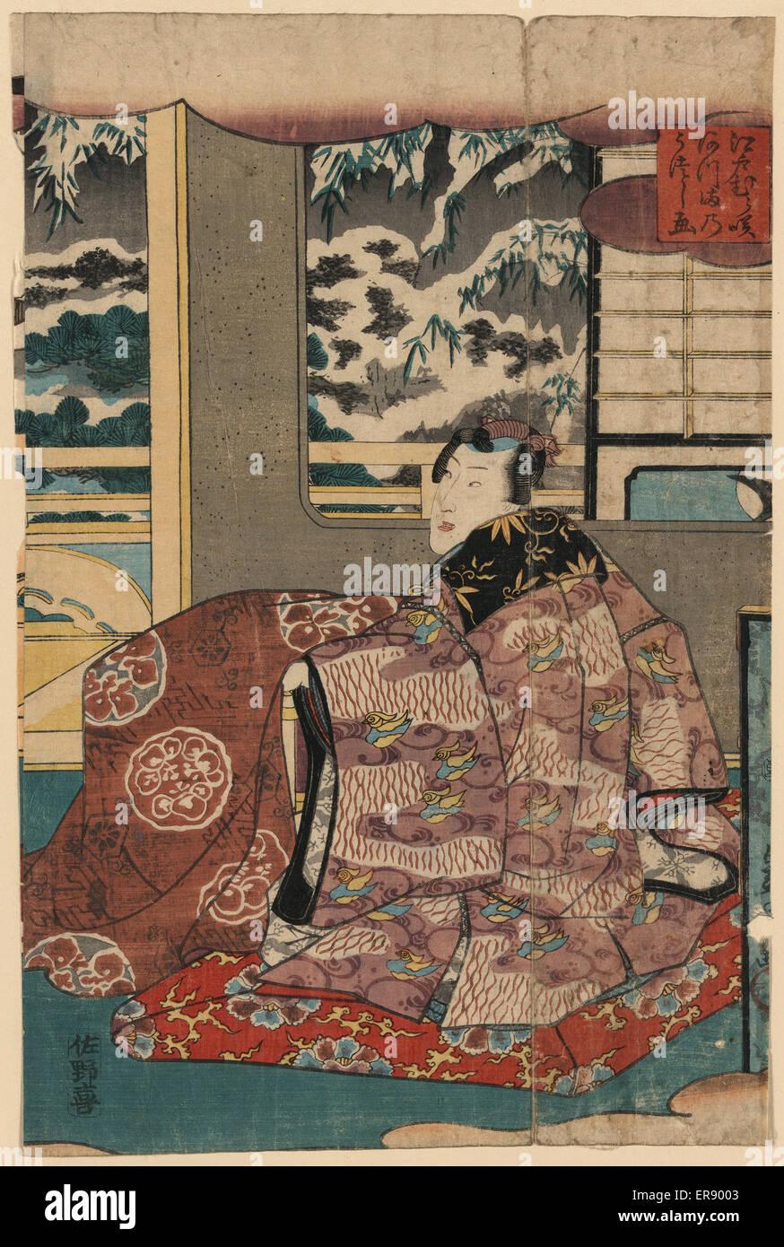Eine Ost-Ansicht der lila gefärbten Edomurasaki. Datum zwischen 1844 und 1854. Stockfoto
