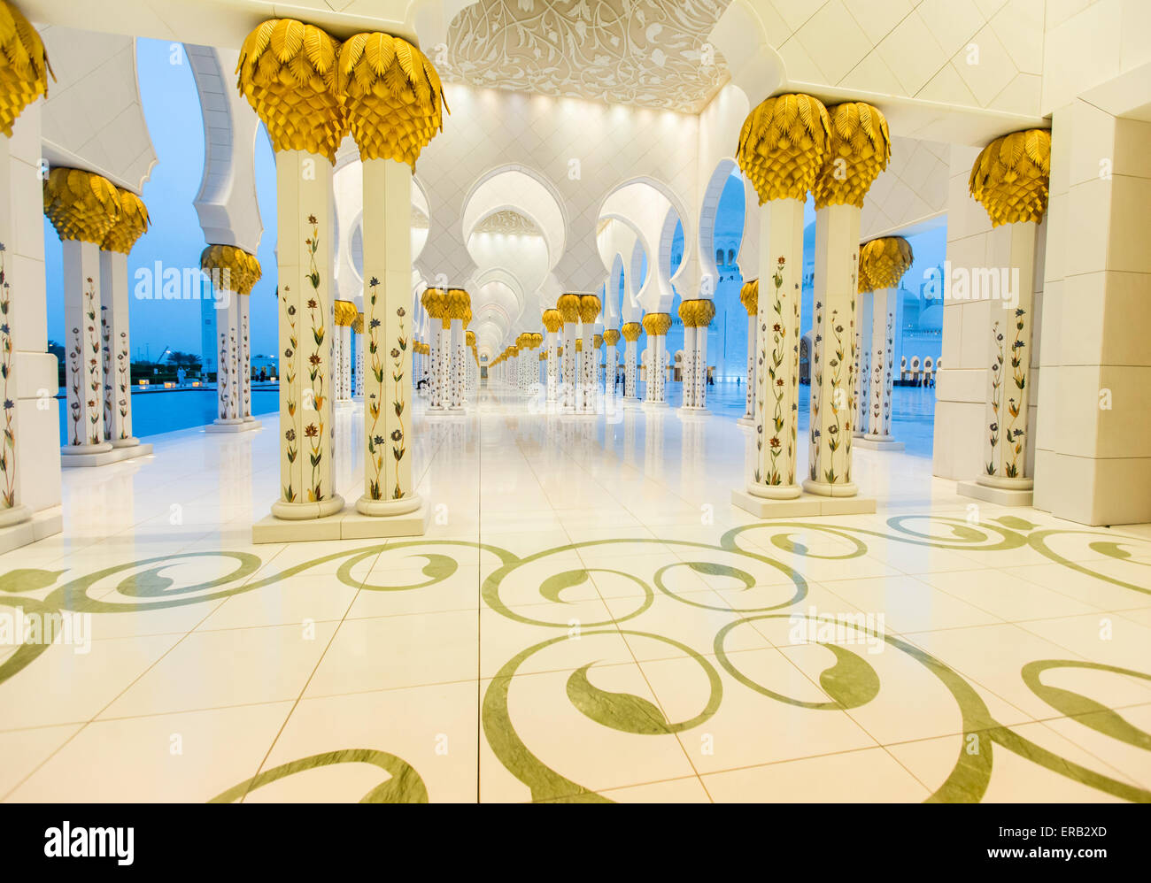 Sheikh Zayed Moschee in Abu Dhabi. Stockbild