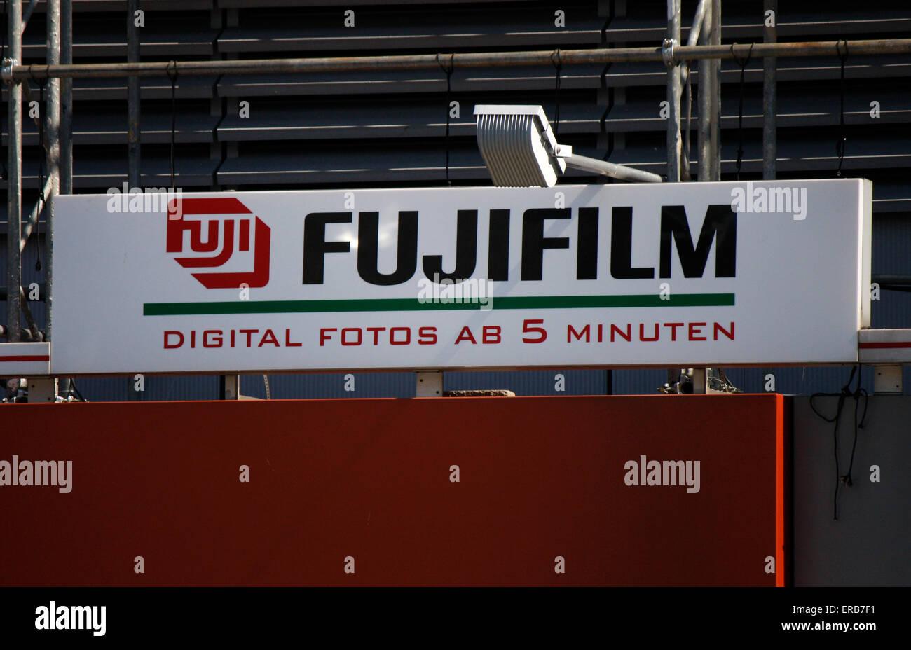 Marken: Fujifilm, Berlin-Mitte. Stockbild