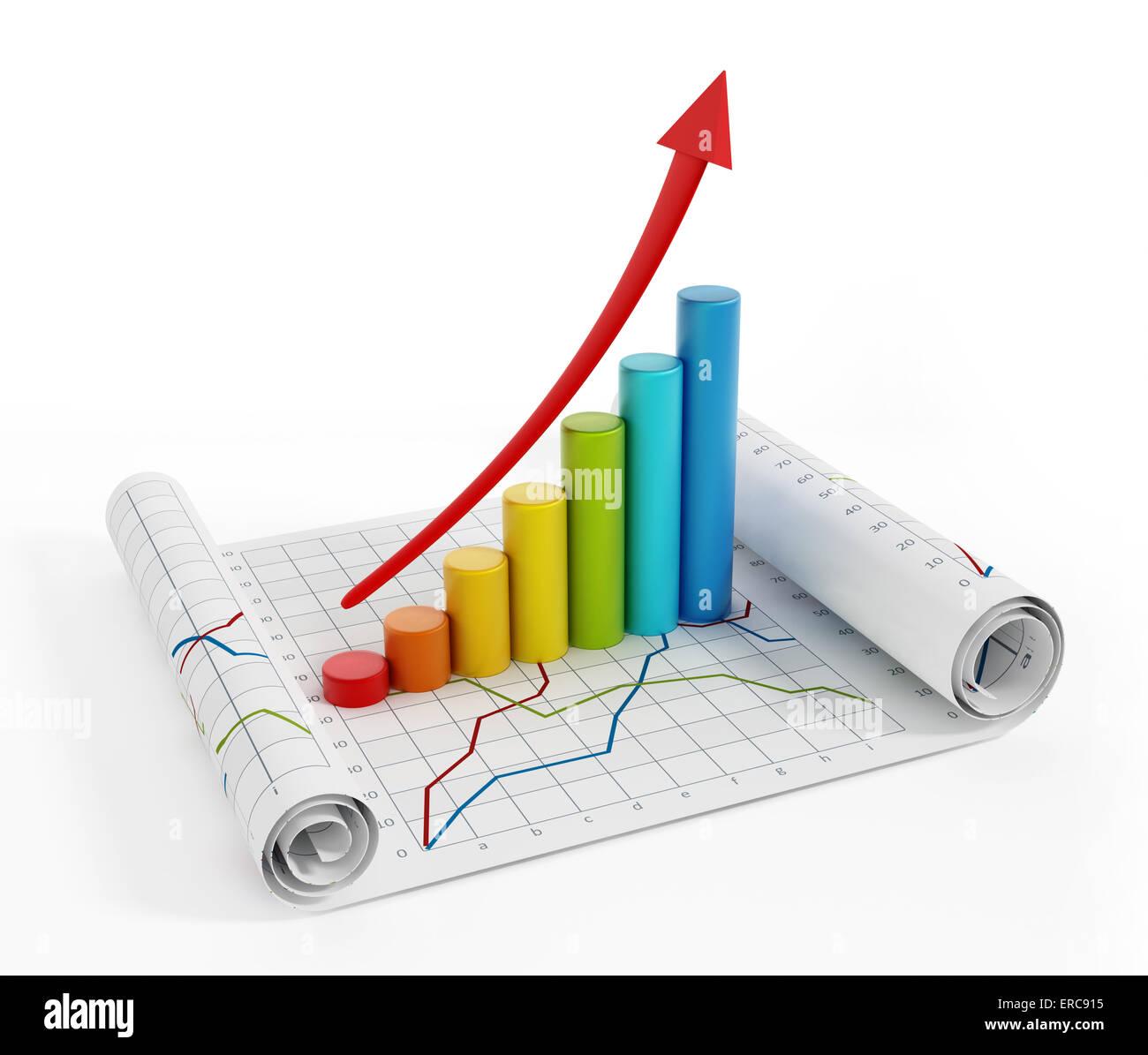 Finanzielle Grafiken Stockbild