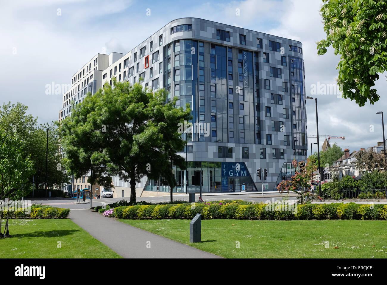 Mayflower Hallen, neuen University of Southampton studentisches Wohnen in Southampton Stockbild
