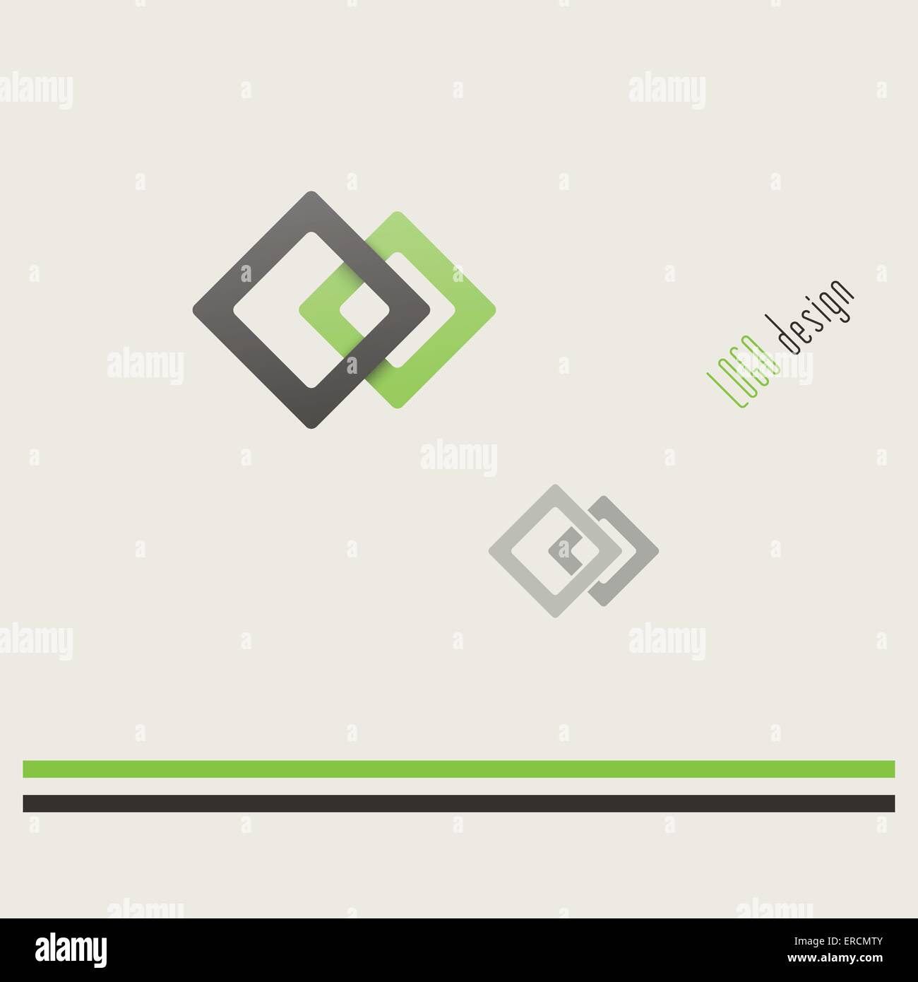 abstrakte Quadrate Form Logo Vorlage. Vektor, Business-Icon-design ...