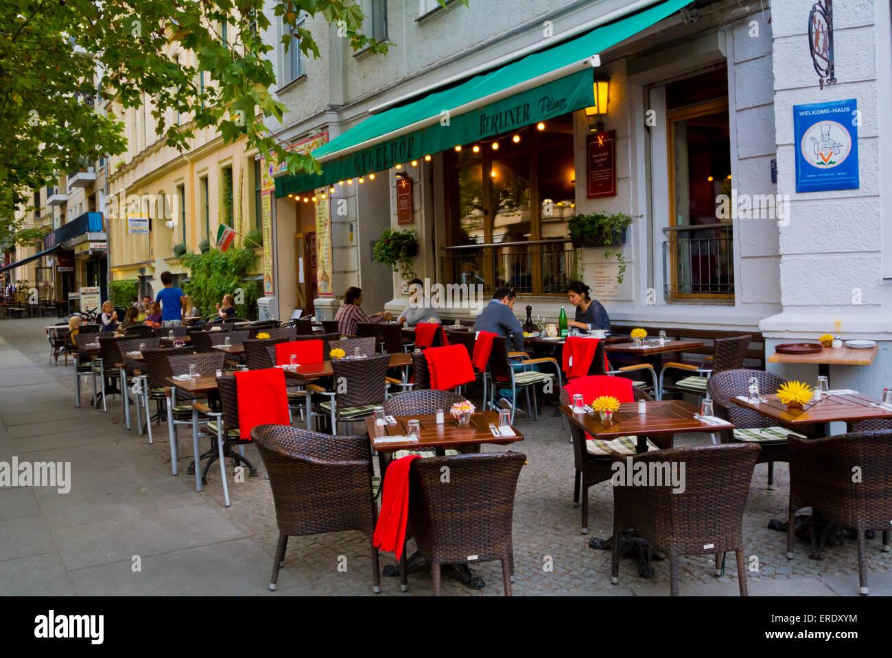 Restaurant Terrasse, Kollwitzplatz, Bezirk Prenzlauerberg, Berlin ...