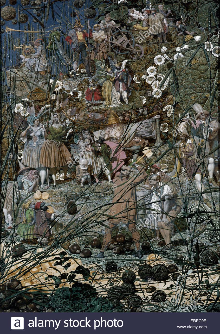 """Die Fee Feller Meisterleistung"" gemalt, 1855-1864 Künstlers Richard Dadd (1817-1886) Stockbild"