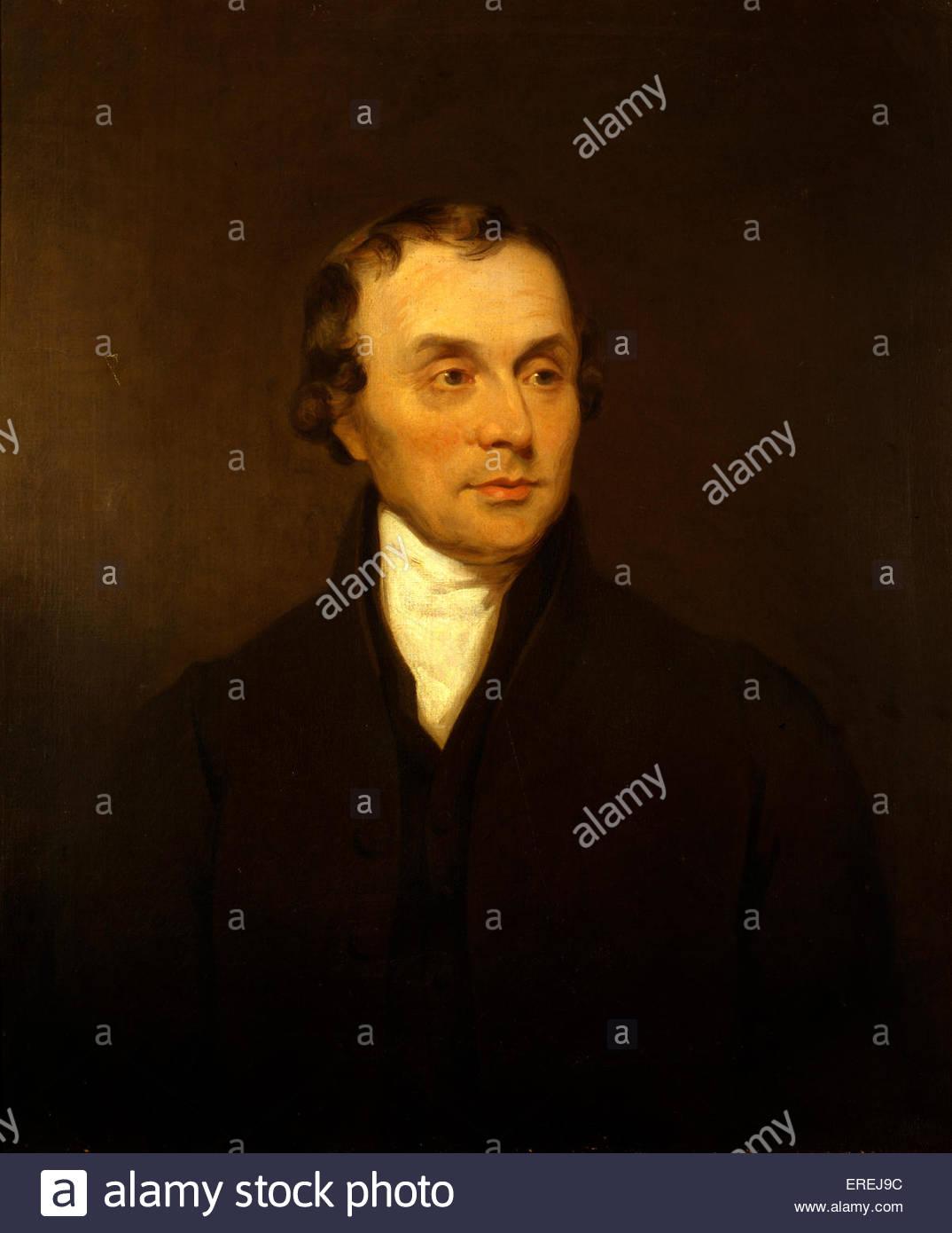 Luke Howard. Porträtmalerei von unbekannten Künstler. Mit freundlicher Genehmigung von königlichen Stockbild