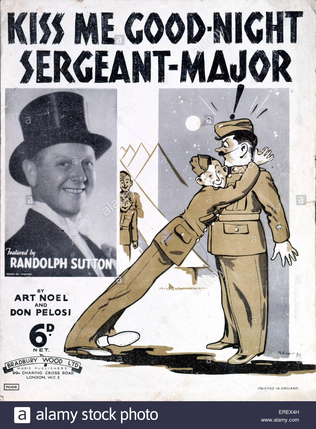 """""""Kiss Me Good-Night-Sergeant-Major"""" - Abdeckung zu erzielen. Dem 2. Weltkrieg. Lied von Art Noel und Dan Stockbild"""