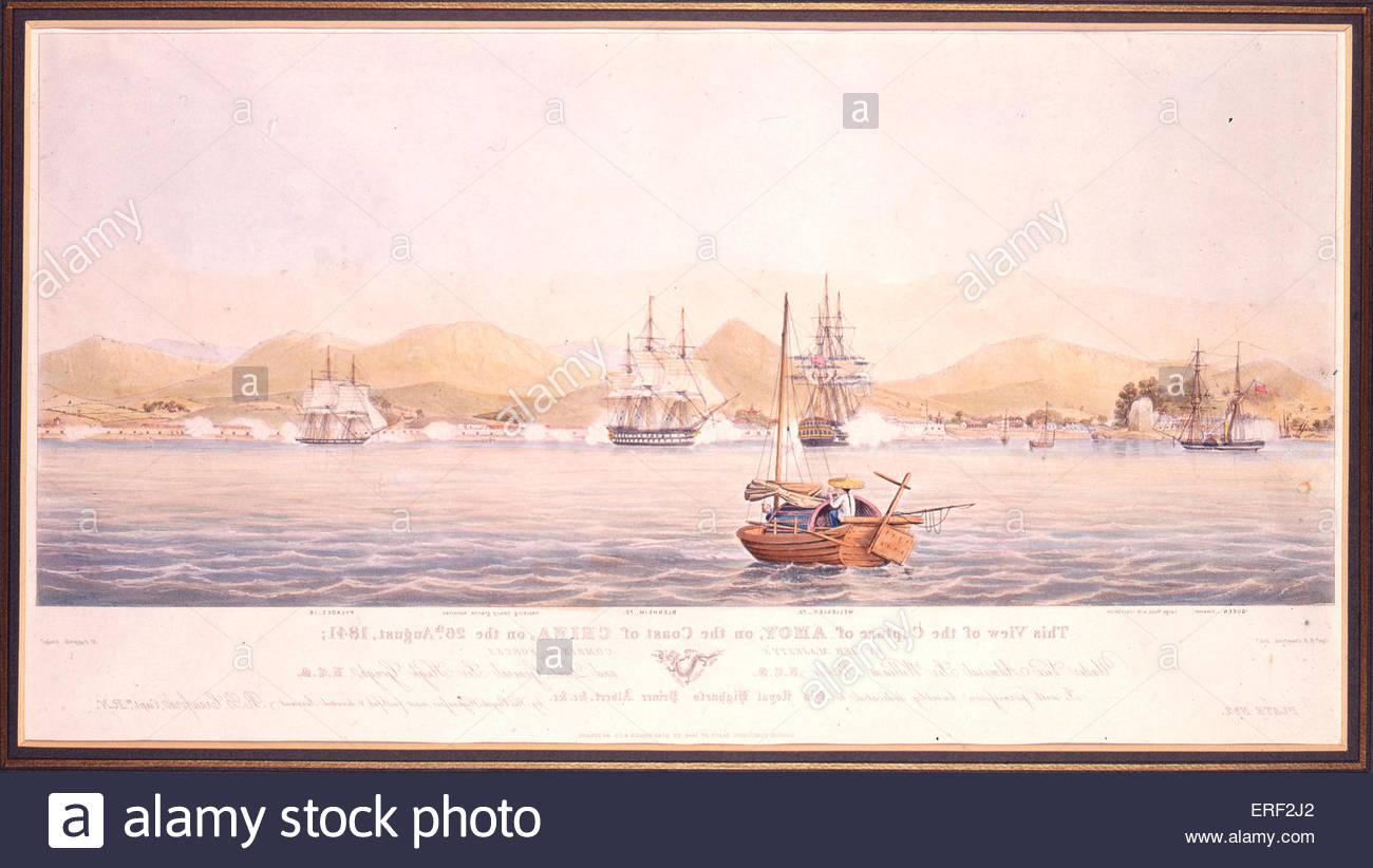 Amoy erfasst vor der Küste von China durch Crawford, R B Papprill, Henry Ackermann & Co, 1. September 1844. Stockbild