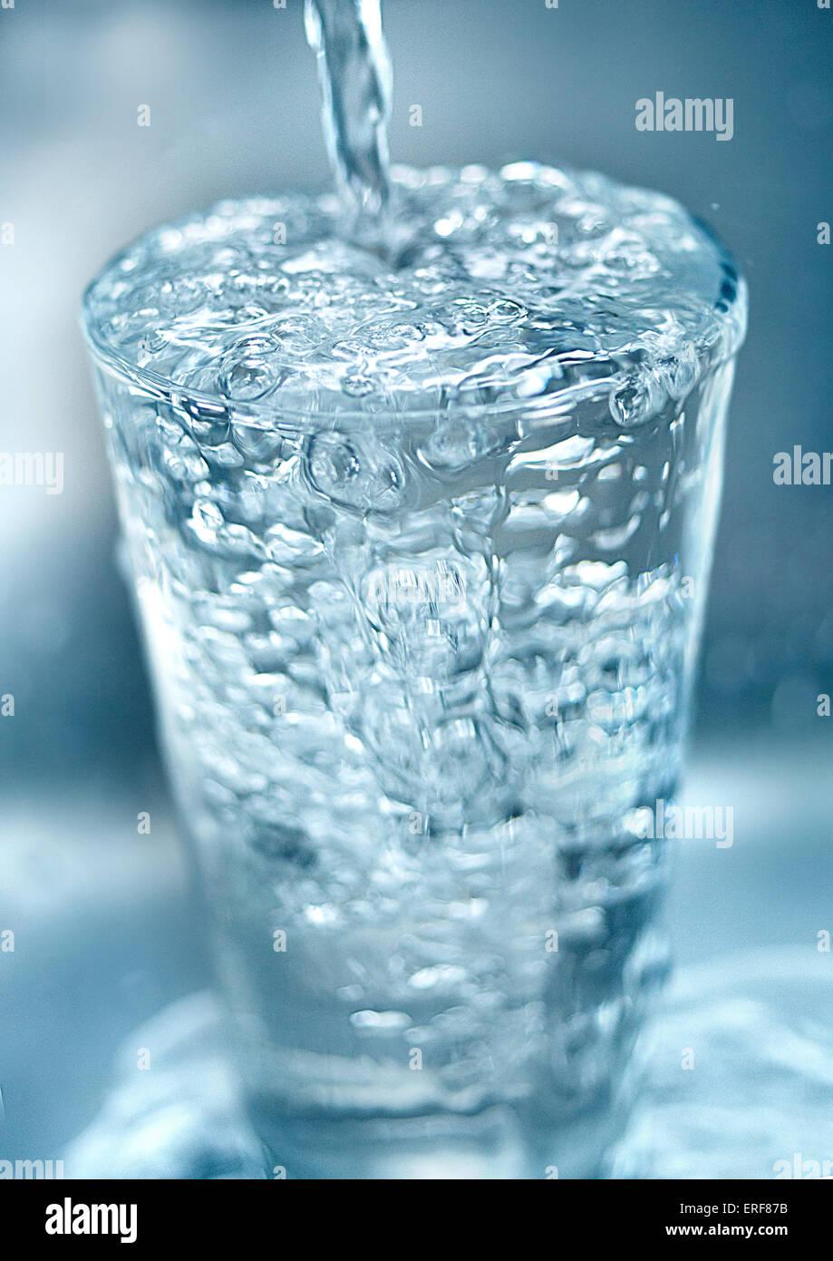 Wasserglas Stockbild