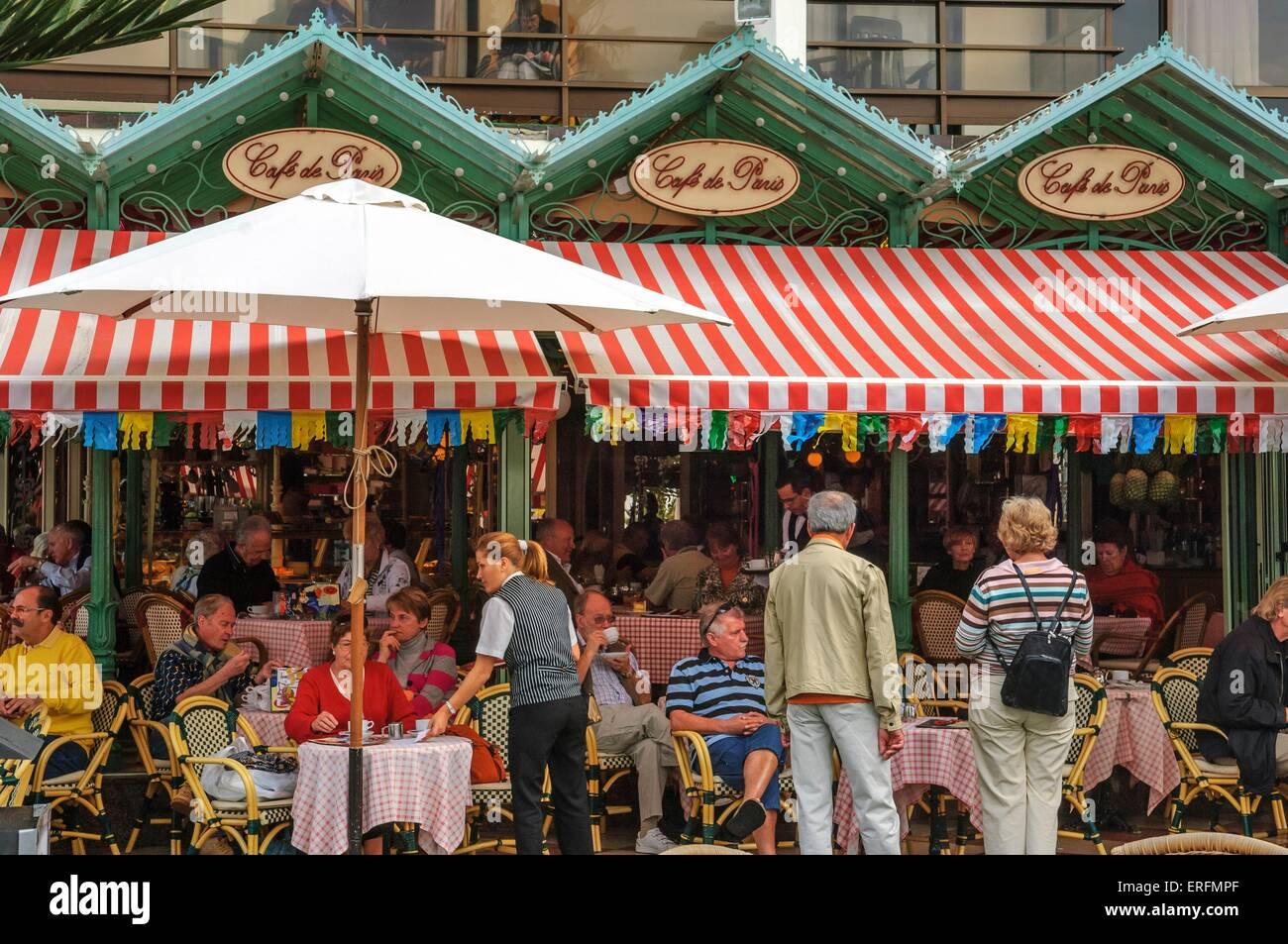 Cafe de Paris. Puerto De La Cruz. Teneriffa. Kanarischen Inseln. Spanien Stockbild