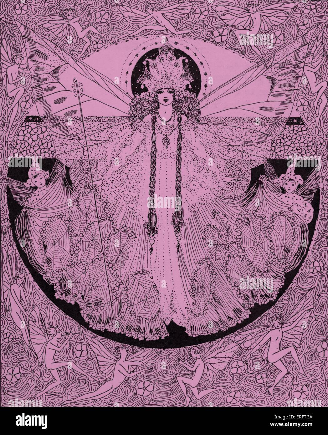 Eine Fee aus neun kleinen Märchen, geschrieben von H.H Harrod, Sohn des Gründers von Harrods.   Bildunterschrift Stockbild