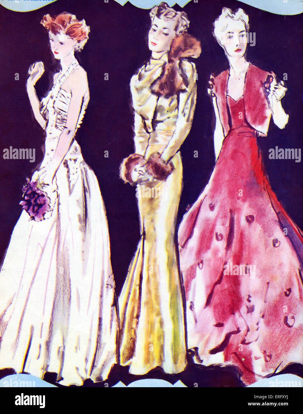 Französische Mode, Abendkleider von 12-Herbst-Kollektion von