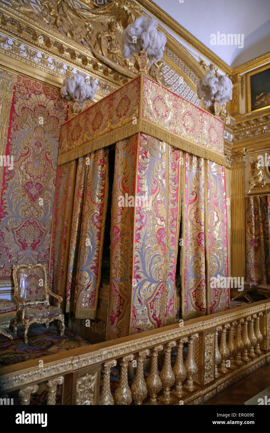 Die Könige Schlafzimmer das Schloss von Versailles-Frankreich ...