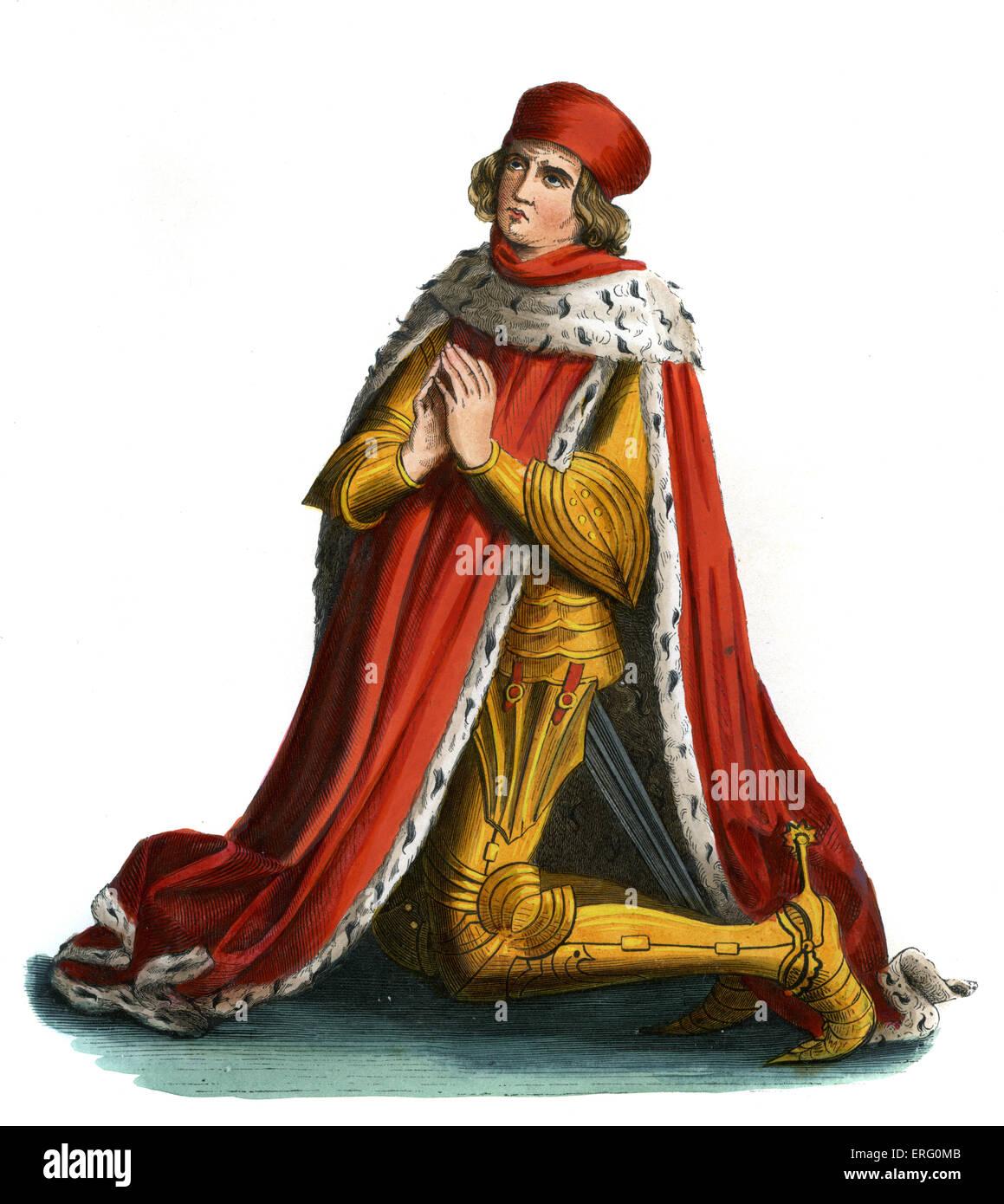 Albert III (Achille) oder Albrecht, Herrscher des Landes Brandenburg im 15. Jahrhundert.  Kurfürst von der Stockbild