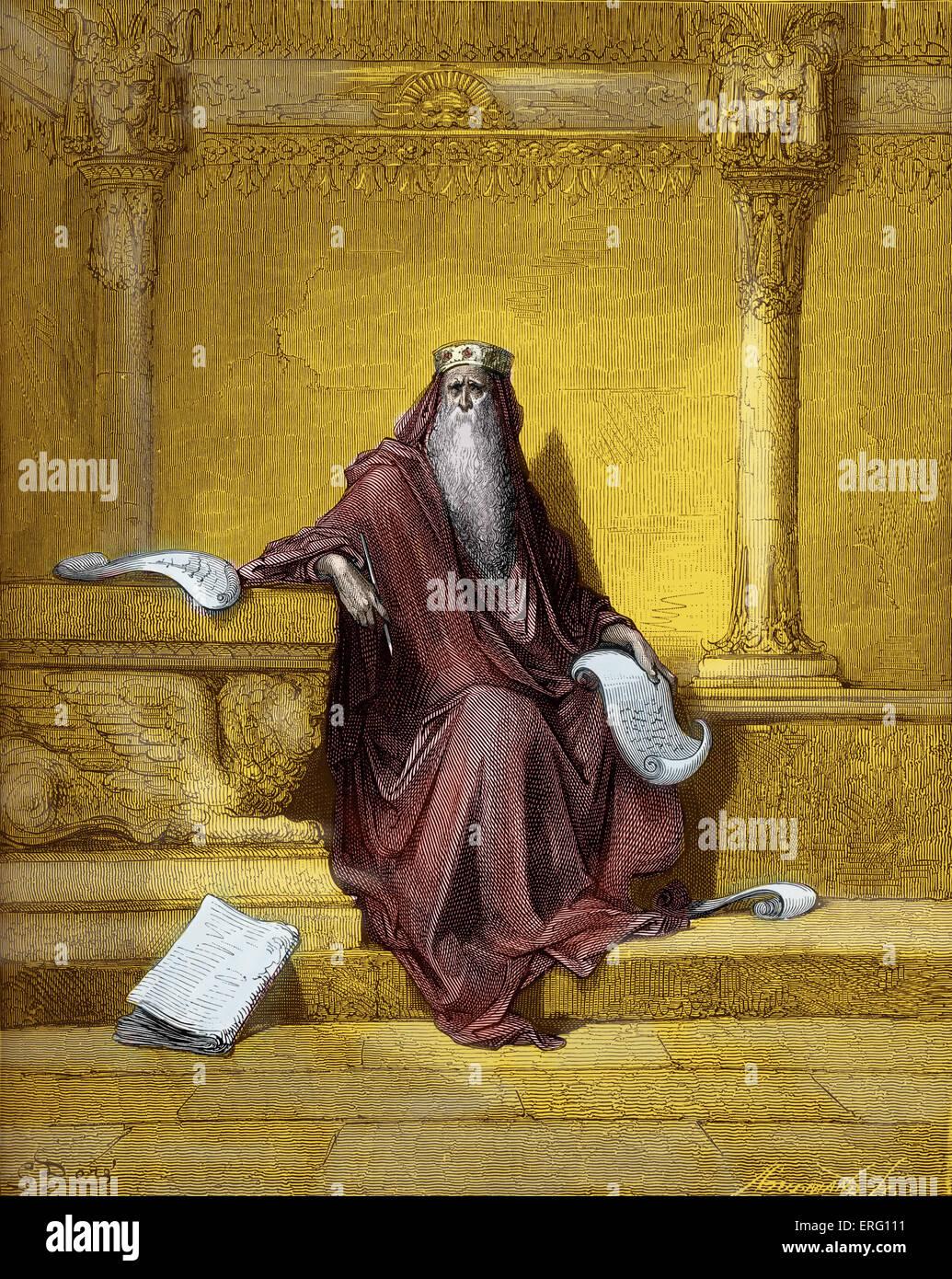 Konig Salomo Spruche Zu Schreiben Stich Von Gustave Dore 1832 1883 Spruche I 1 4 Die Spruche Salomos Sohn Stockfotografie Alamy
