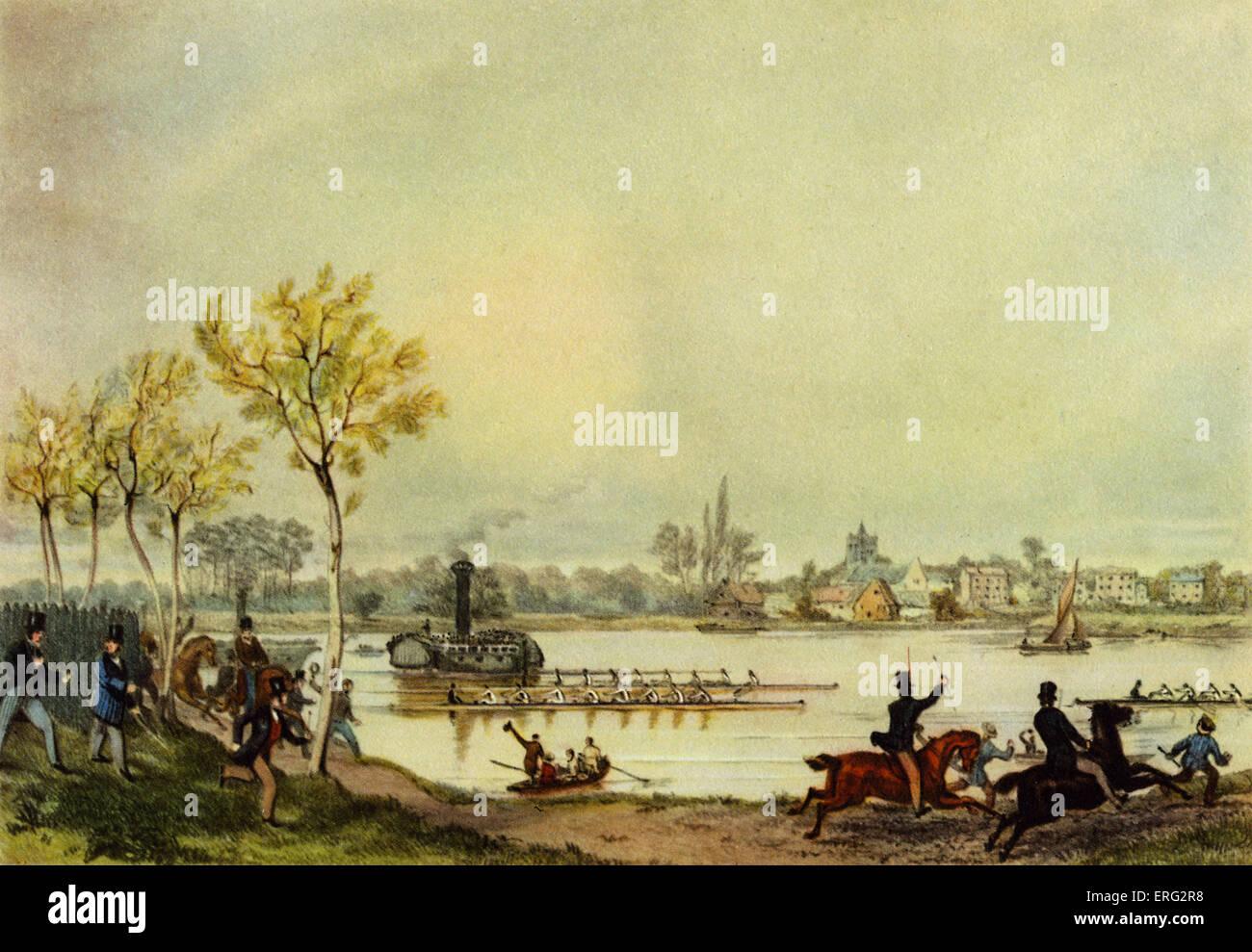 Oxford und Cambridge Regatta. Künstler nicht bekannt Stockbild