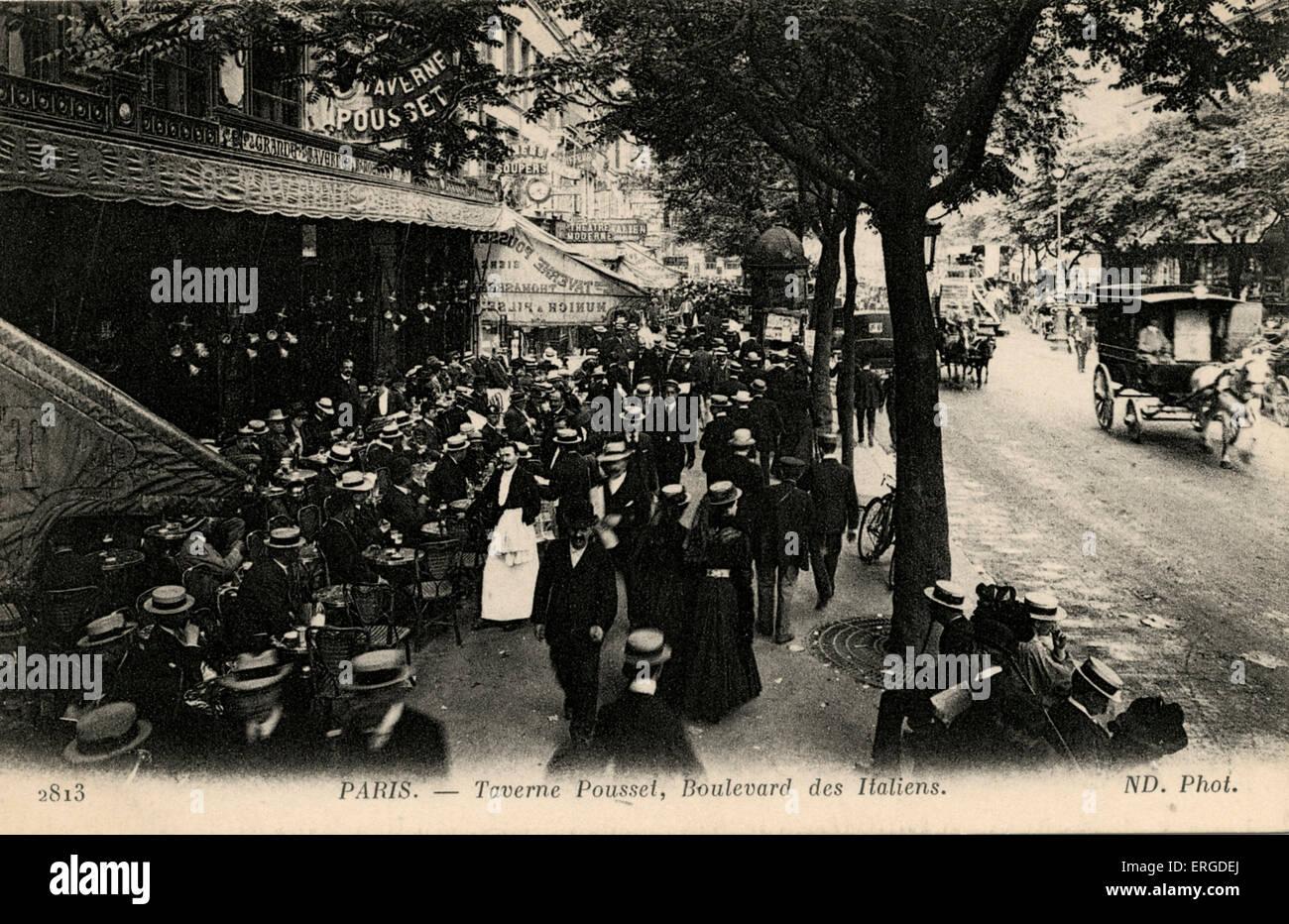 Taverne Pousset, Boulevard des vergoß, Paris, um 1900. Public House. Stockbild