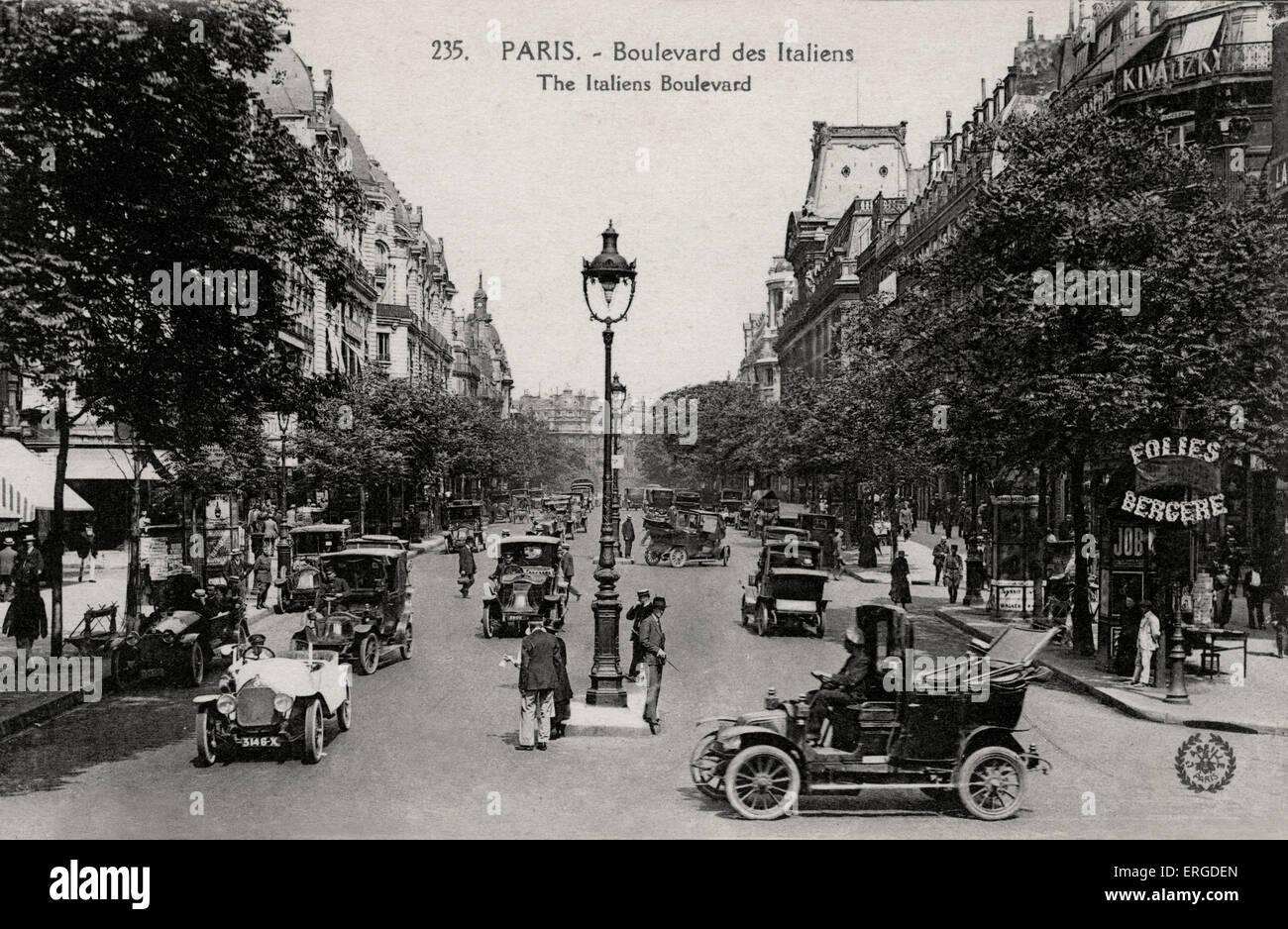 Boulevard des vergoß, Paris - Anfang 20. Jh. Stockbild