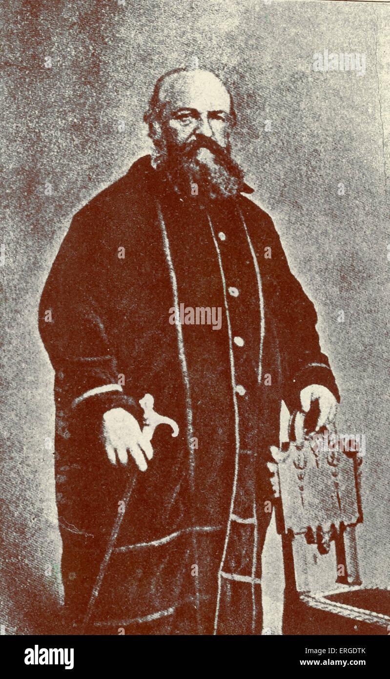 Eliphas Lévi - Porträt. Französische geheimnisvolle Autor und angebliche Magier. Geboren Alphonse Stockbild
