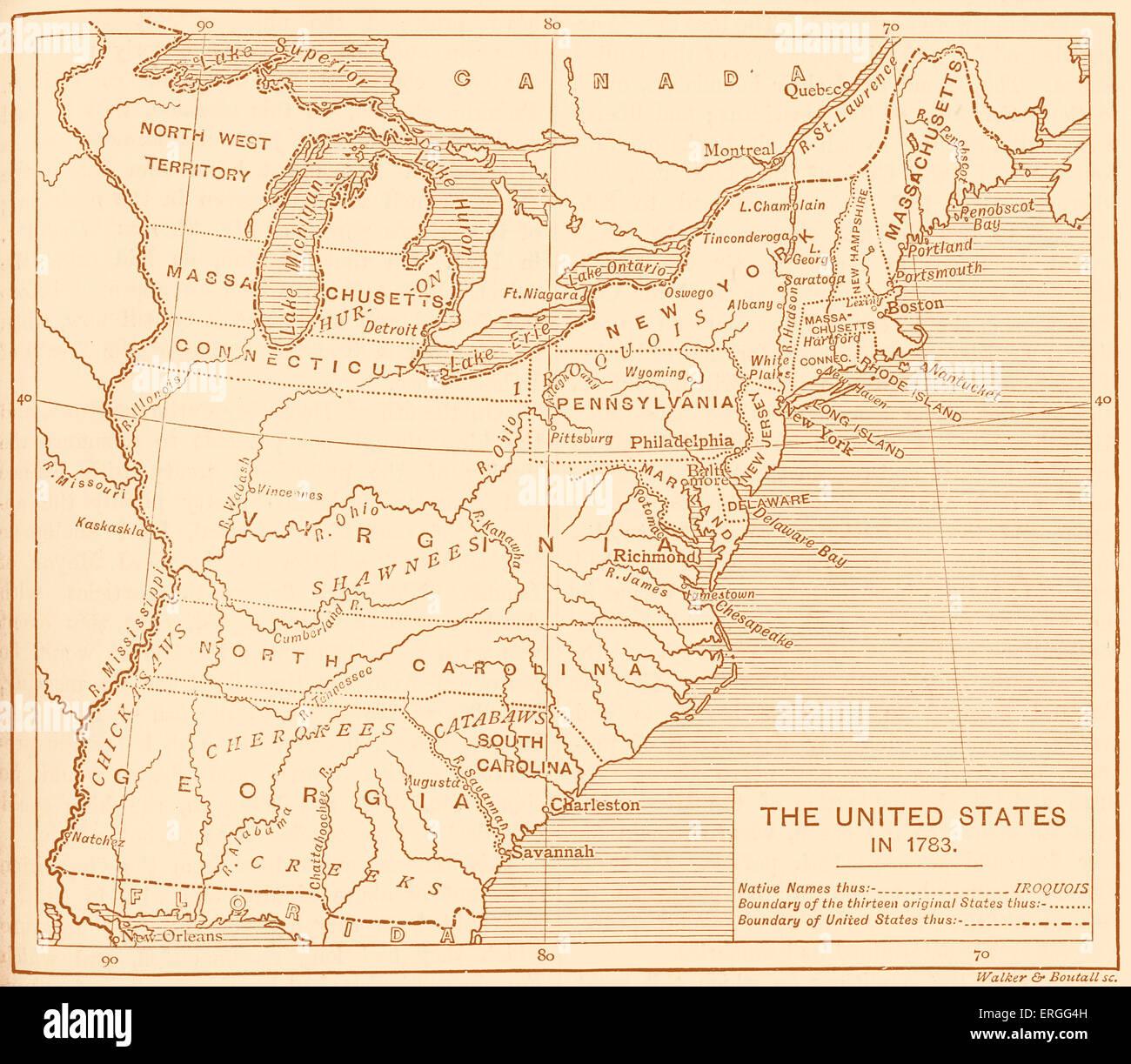 Usa Map States Names Stockfotos & Usa Map States Names Bilder - Alamy