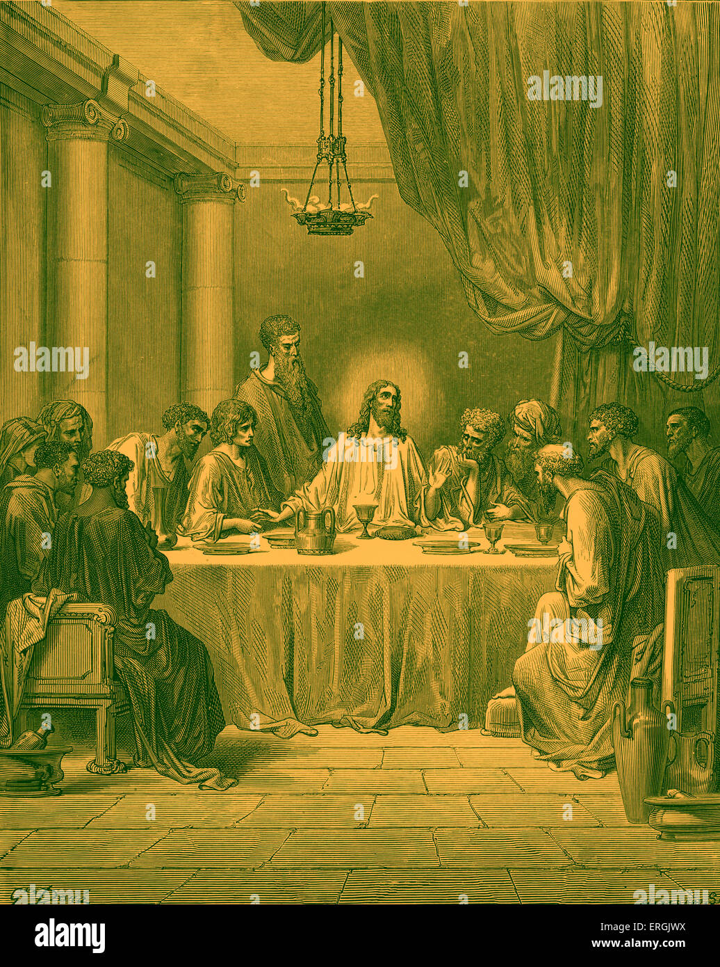 illustration last supper jesus christ stockfotos illustration last supper jesus christ bilder. Black Bedroom Furniture Sets. Home Design Ideas