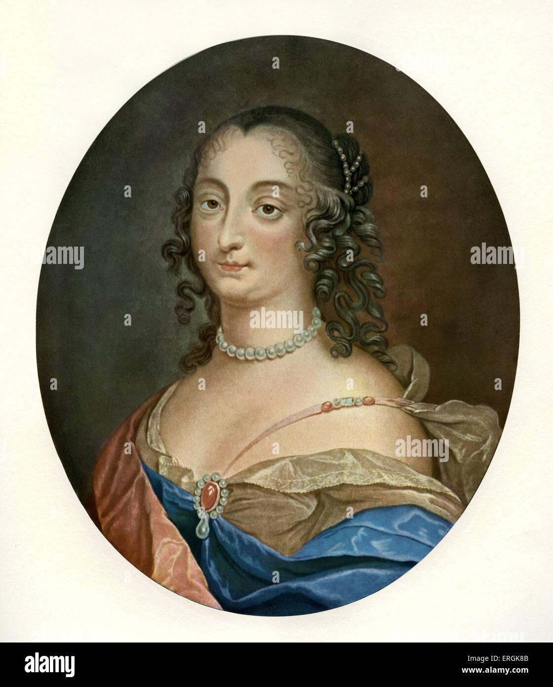 Ninon de Lenclos (1620-1705) - nach dem Stich von Francois Janinet, nach Louis Ferdinand Elle (1612-1689). Auch Stockbild