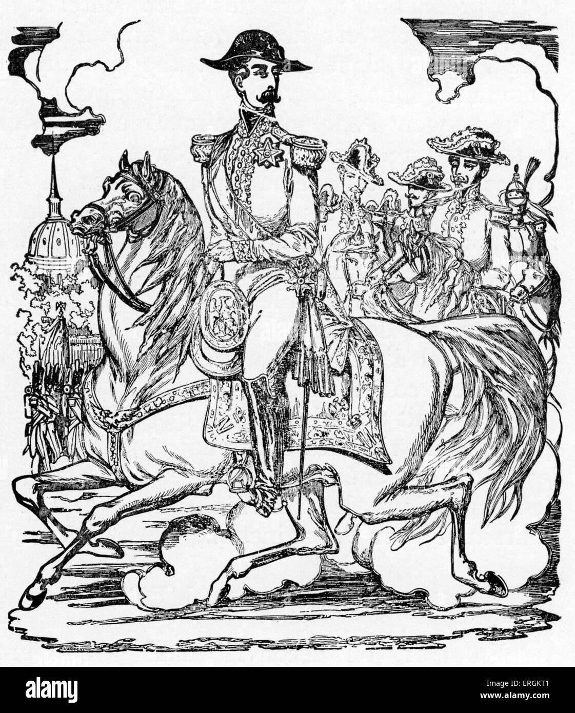 Napoleon III - Drucken von Pellerin bei Epinal, Frankreich und Charles Pinot, c. 1852.  NIII: Erster Präsident Stockbild