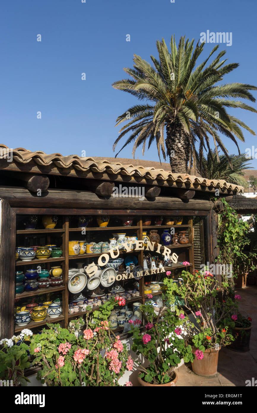 Souvenir Shop Dona Maria, Betancuria, Fuerteventura, Kanarische Inseln, Spanien, Stockbild