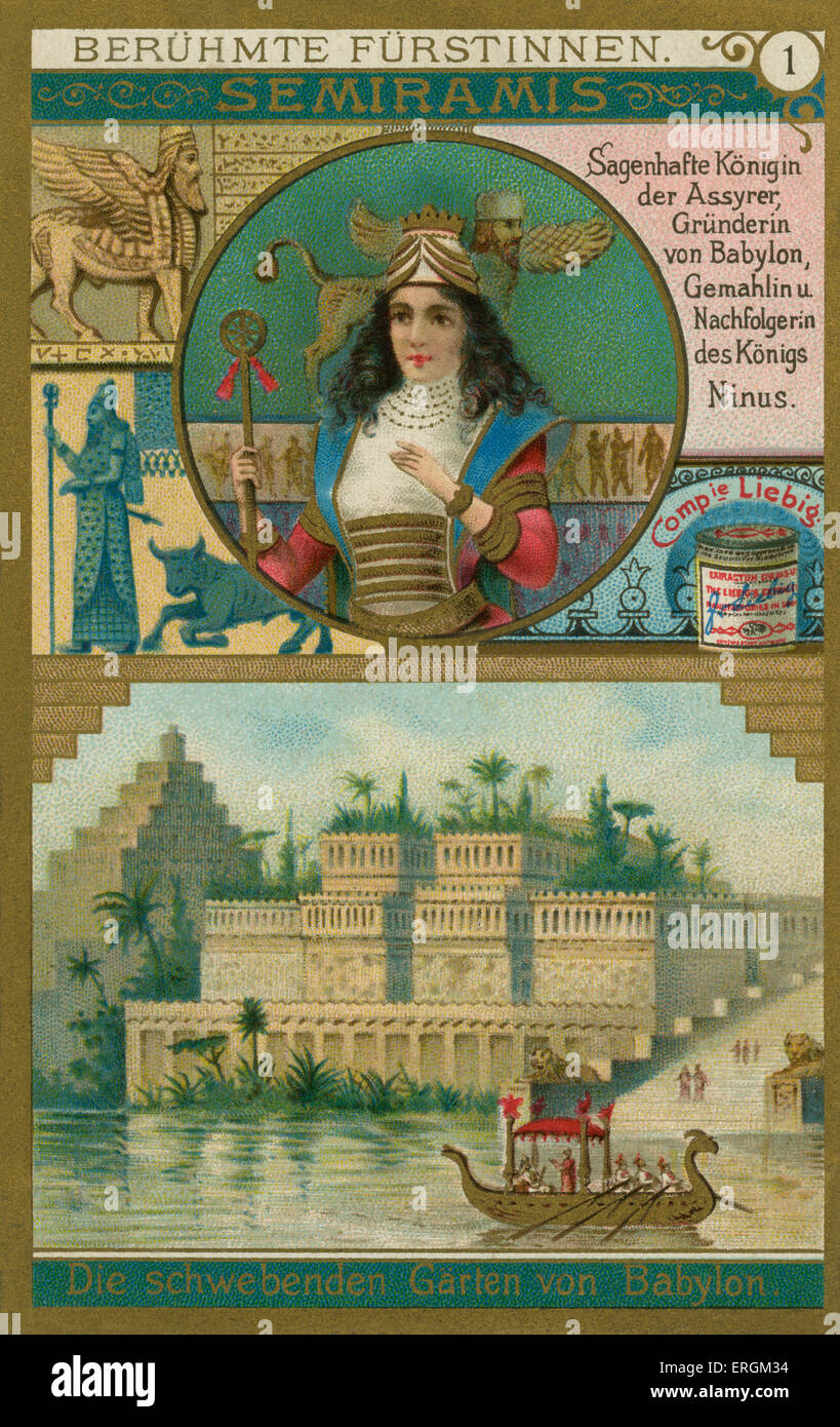 Semiramis. Bildunterschrift lautet: legendäre Königin von Assyrien Gründerin von Babylon, und Frau Stockbild