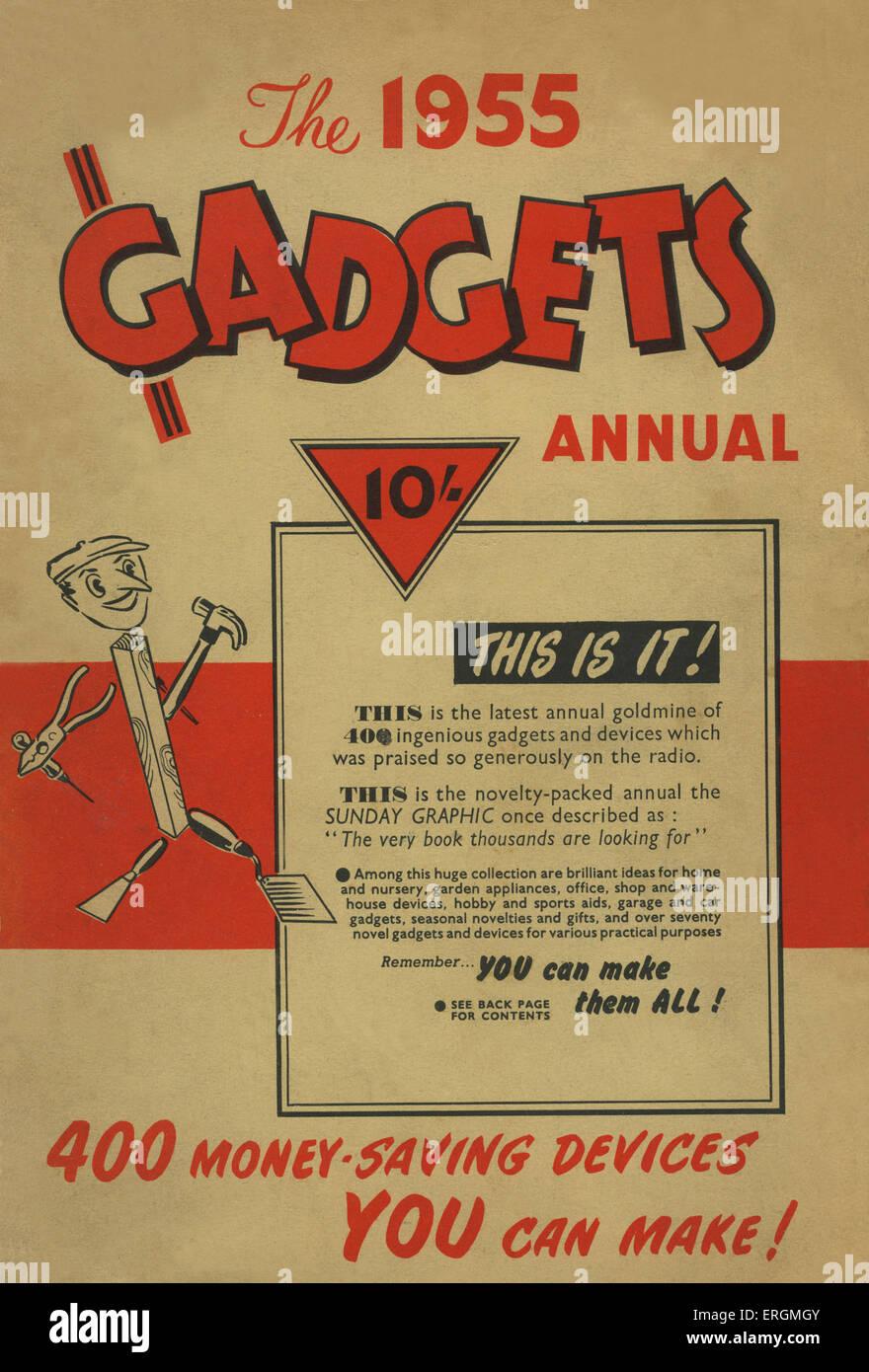 """Deckblatt - das 1955 Gadgets Annual, darunter 400 Geld sparende entscheidet """", und behauptet, sein ' sehr Stockbild"""
