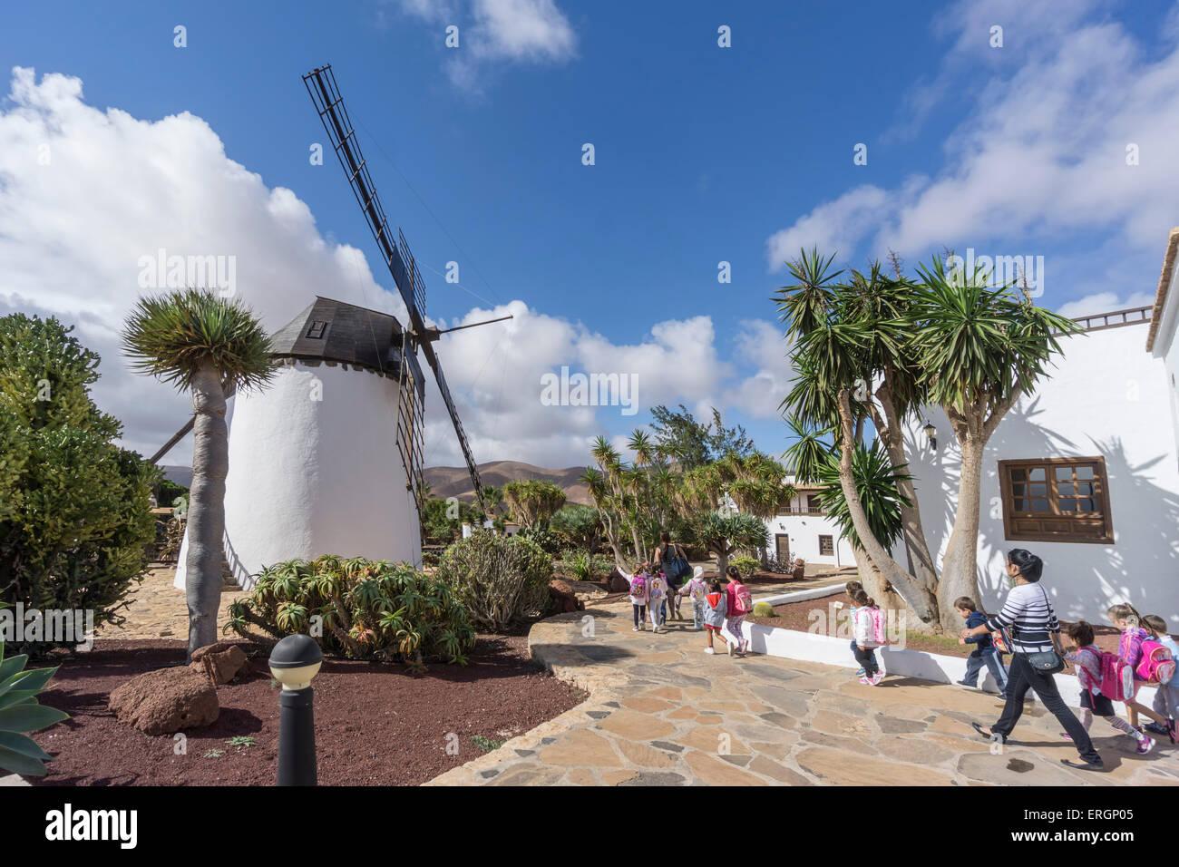 Molina de Antigua, Windmühle, Fuerteventura, Kanarische Inseln, Spanien Stockbild
