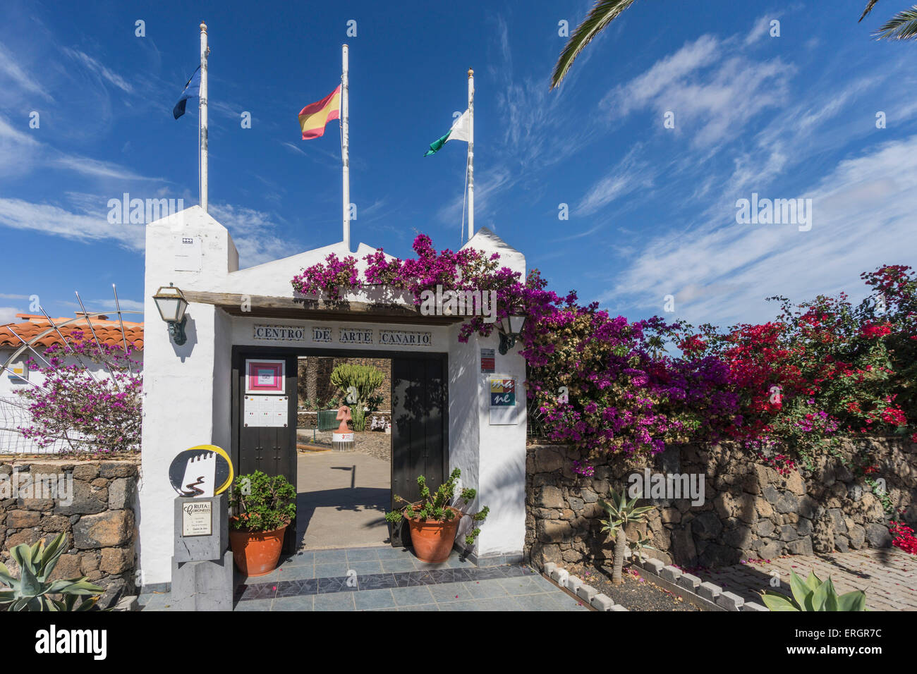 Centro de Arte Canario, Kunstmuseum, La Oliva, Fuerteventura, Kanarische Inseln, Spanien Stockbild