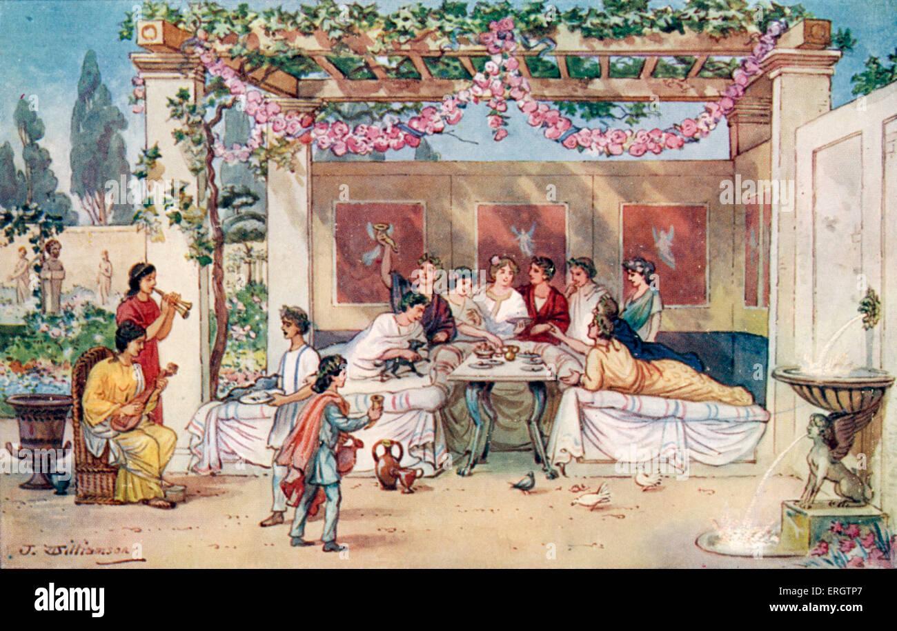 Alten rom im essen Antike Tischkultur