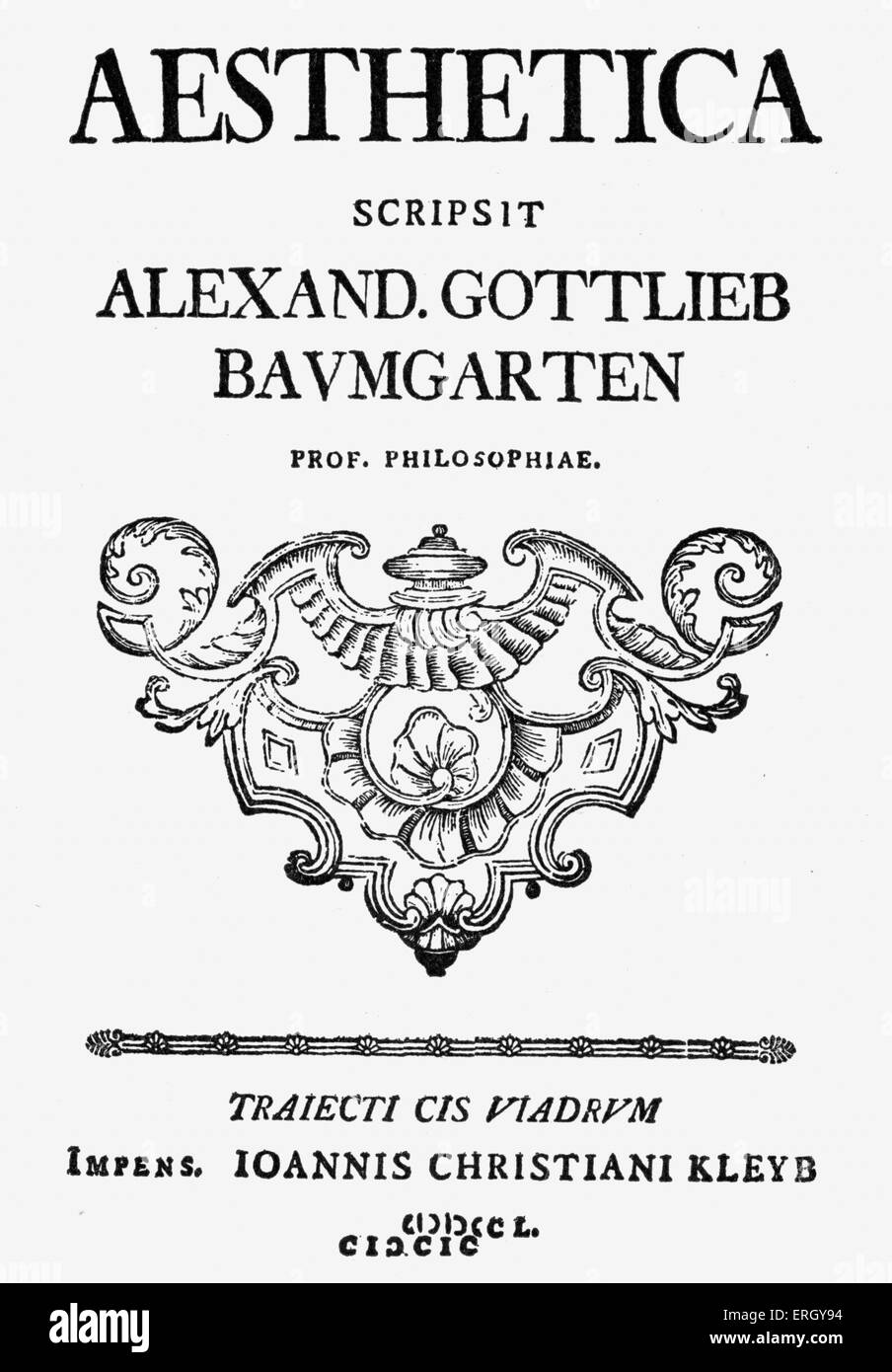 alexander gottlieb baumgarten aesthetica english pdf