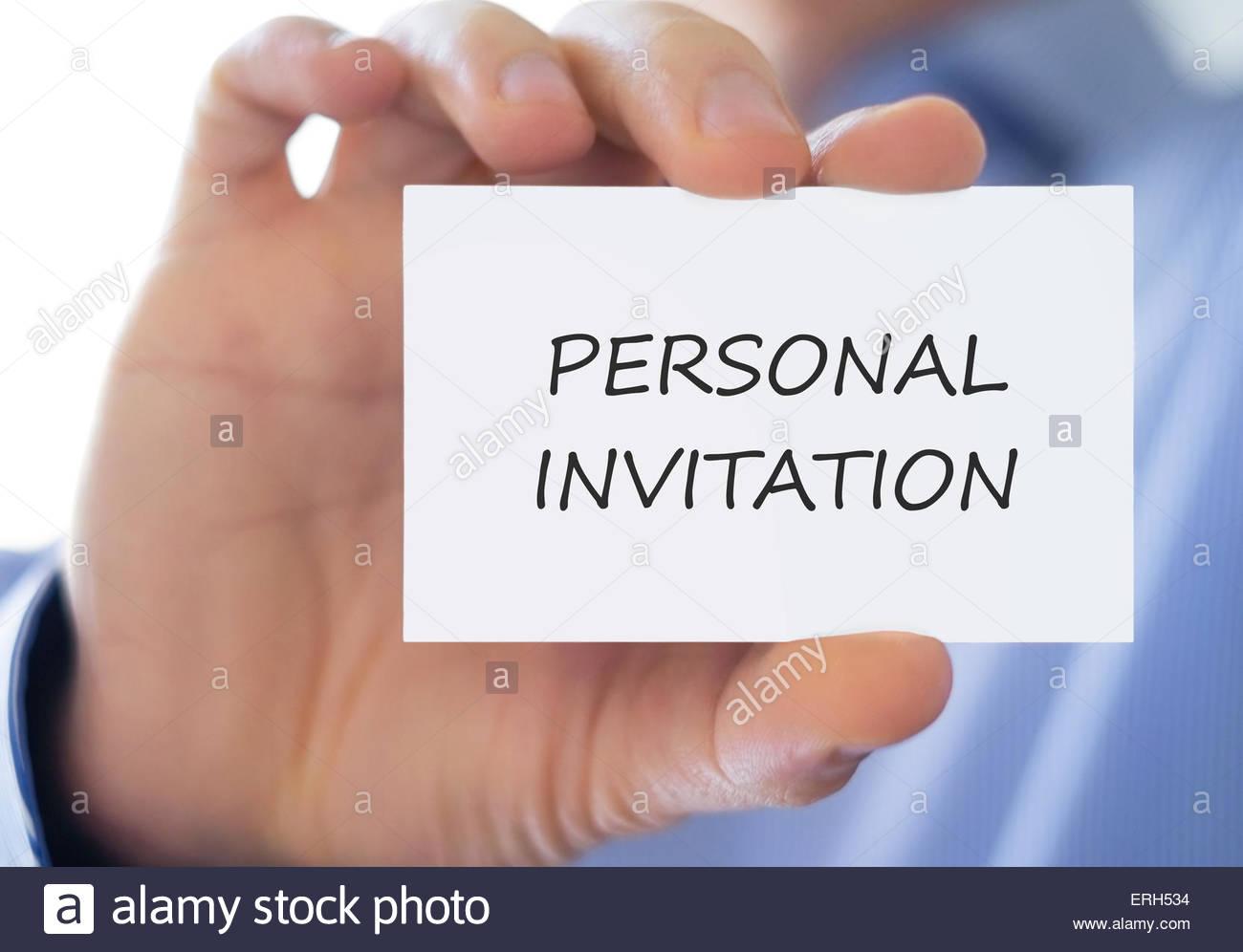 Persönliche Einladung Stockbild