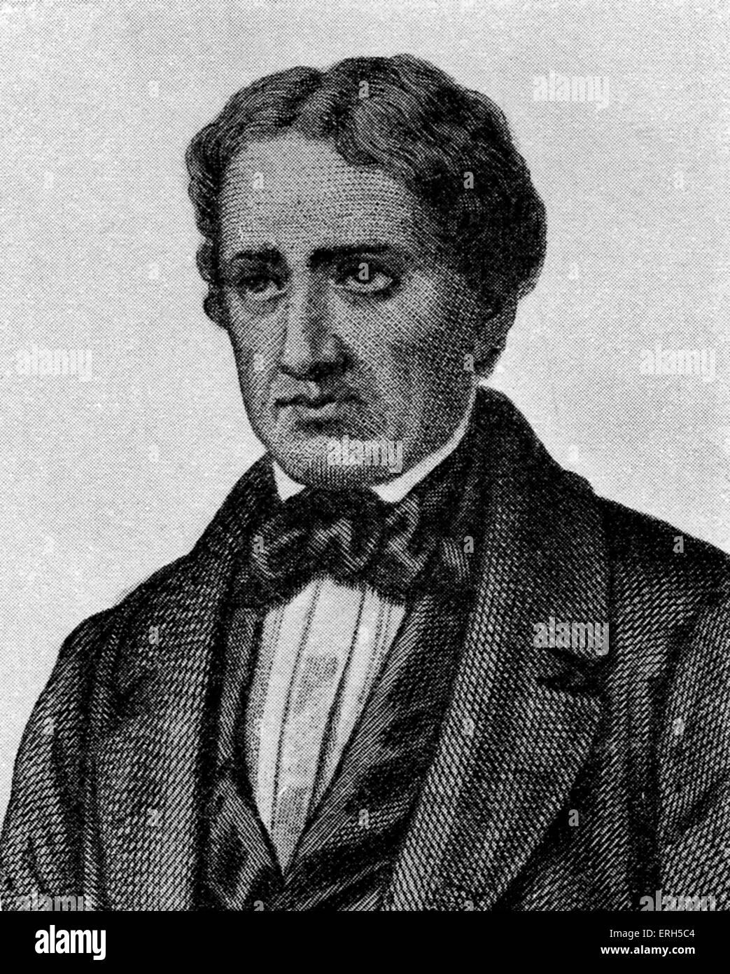 Giovanni Berchet - italienischer Dichter und Patriot, geboren in Mailand im Jahre 1783. Schrieb eine einflussreiche Stockbild