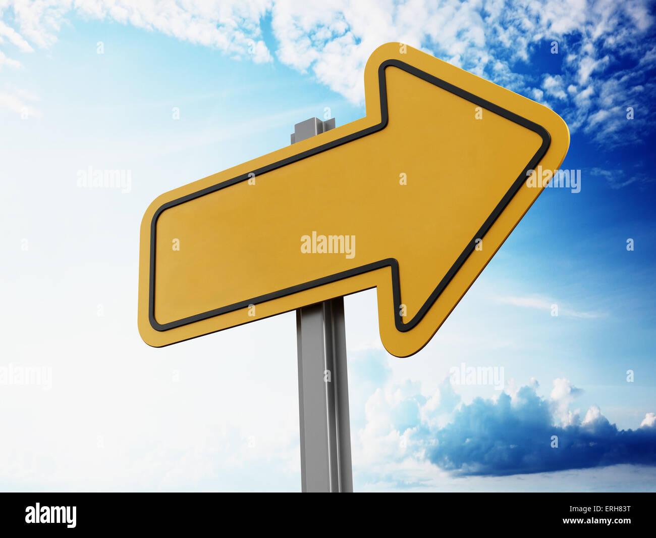Einsparungen vor Schild auf blauem Himmel Stockbild