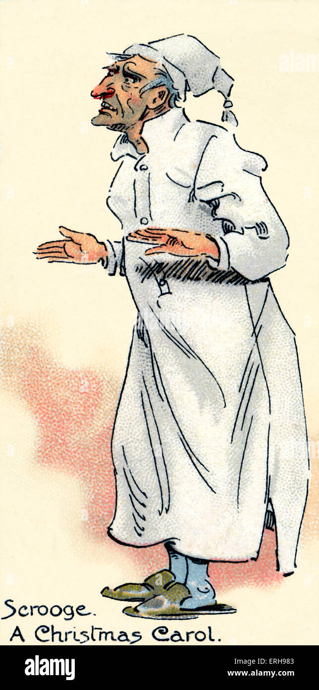 A Christmas Carol - Roman von Charles Dickens. Illustration von ...