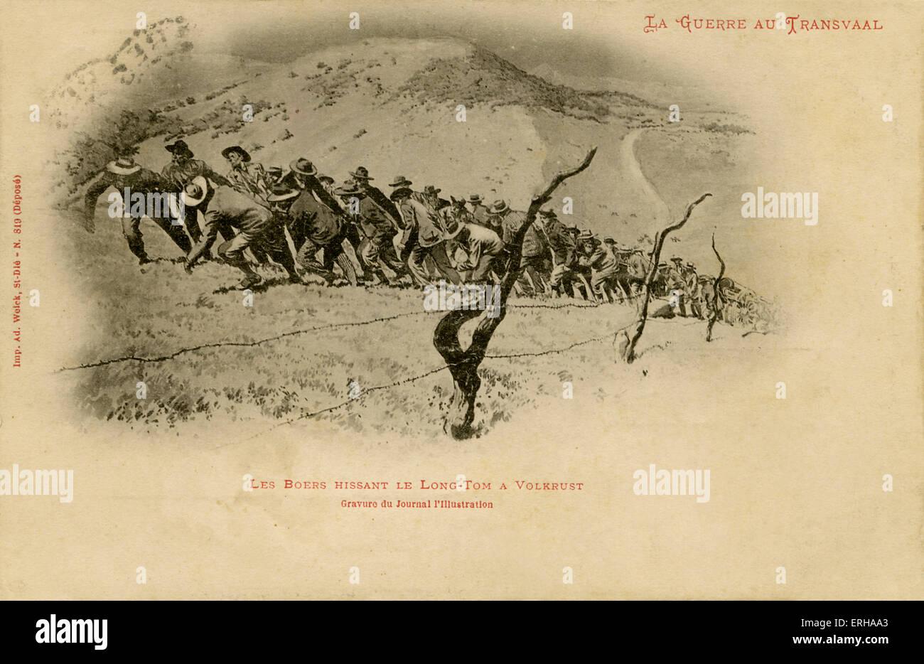 Buren ziehen Kanone auf Volkrust in Transvaal, Südafrika, auf ...
