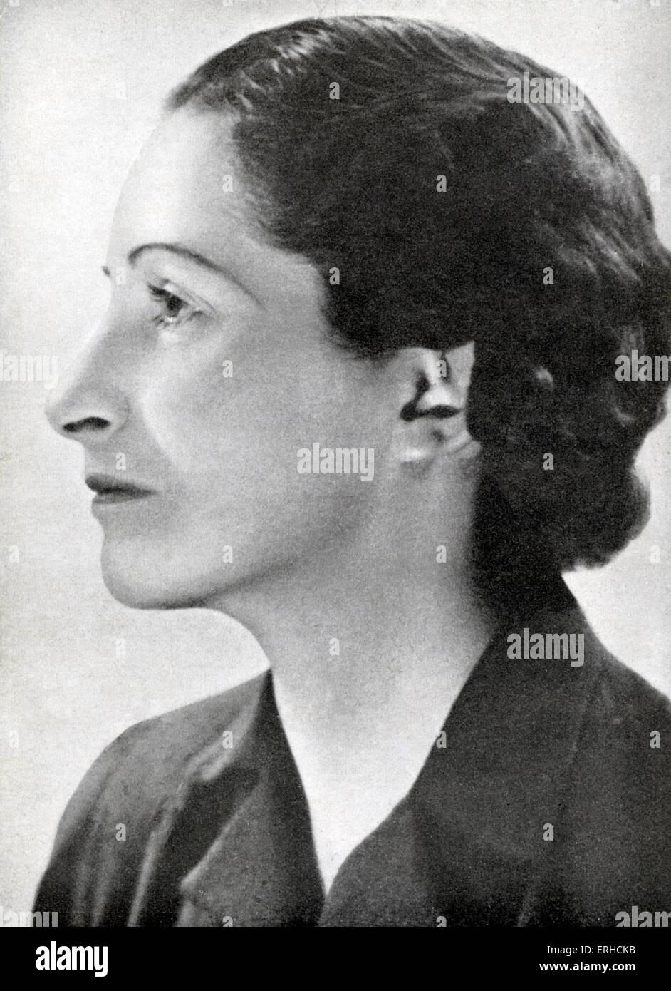 Vera Brittain c. 1924. Englische Schriftstellerin, Feministin und Pazifist: 29. Dezember 1893 ? 29. März 1970. Stockbild