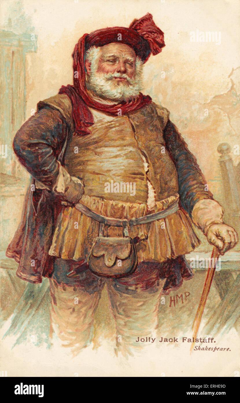 Shakespeares Comicfigur Sir John Falstaff -. Englischer Dramatiker, 1564-1616 Stockbild