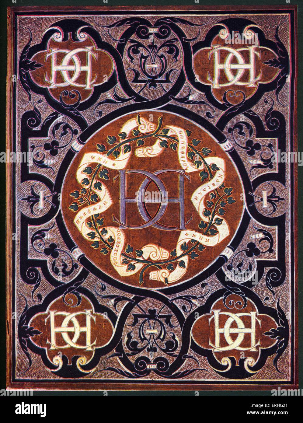 Buchen Sie verbindlich - aus dem 16. Jahrhundert. Für Königin Catherine der Medici, mit Initialen H + Stockbild
