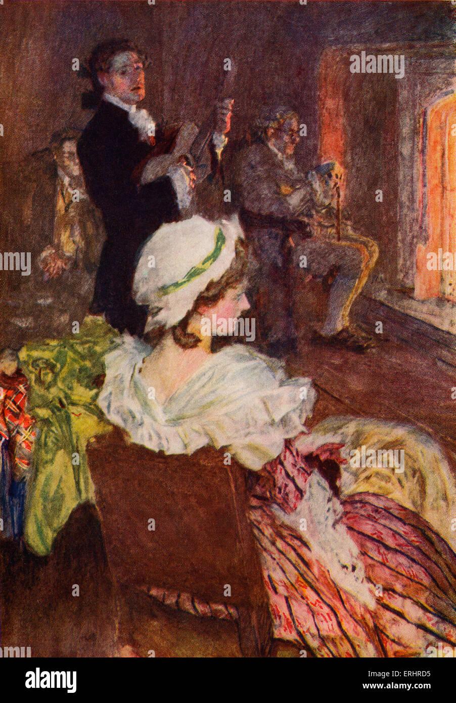 """Der Meister von Ballantrae - Roman von Stevenson. Bildunterschrift lautet: """"die Worte und die Musik schien Stockbild"""