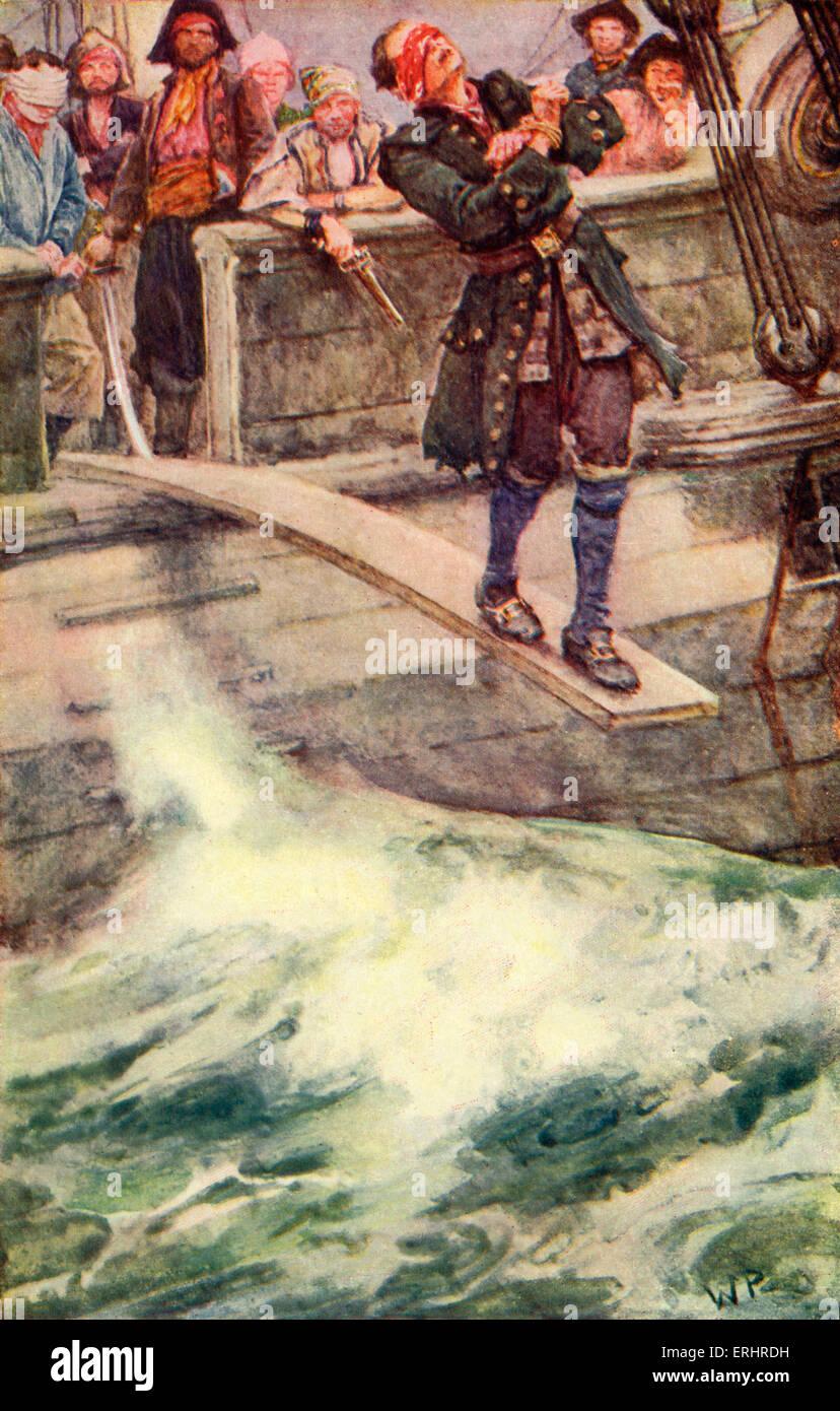 """Der Meister von Ballantrae - Roman von Stevenson. Bildunterschrift lautet: """"der Kapitän und der ganze Stockbild"""