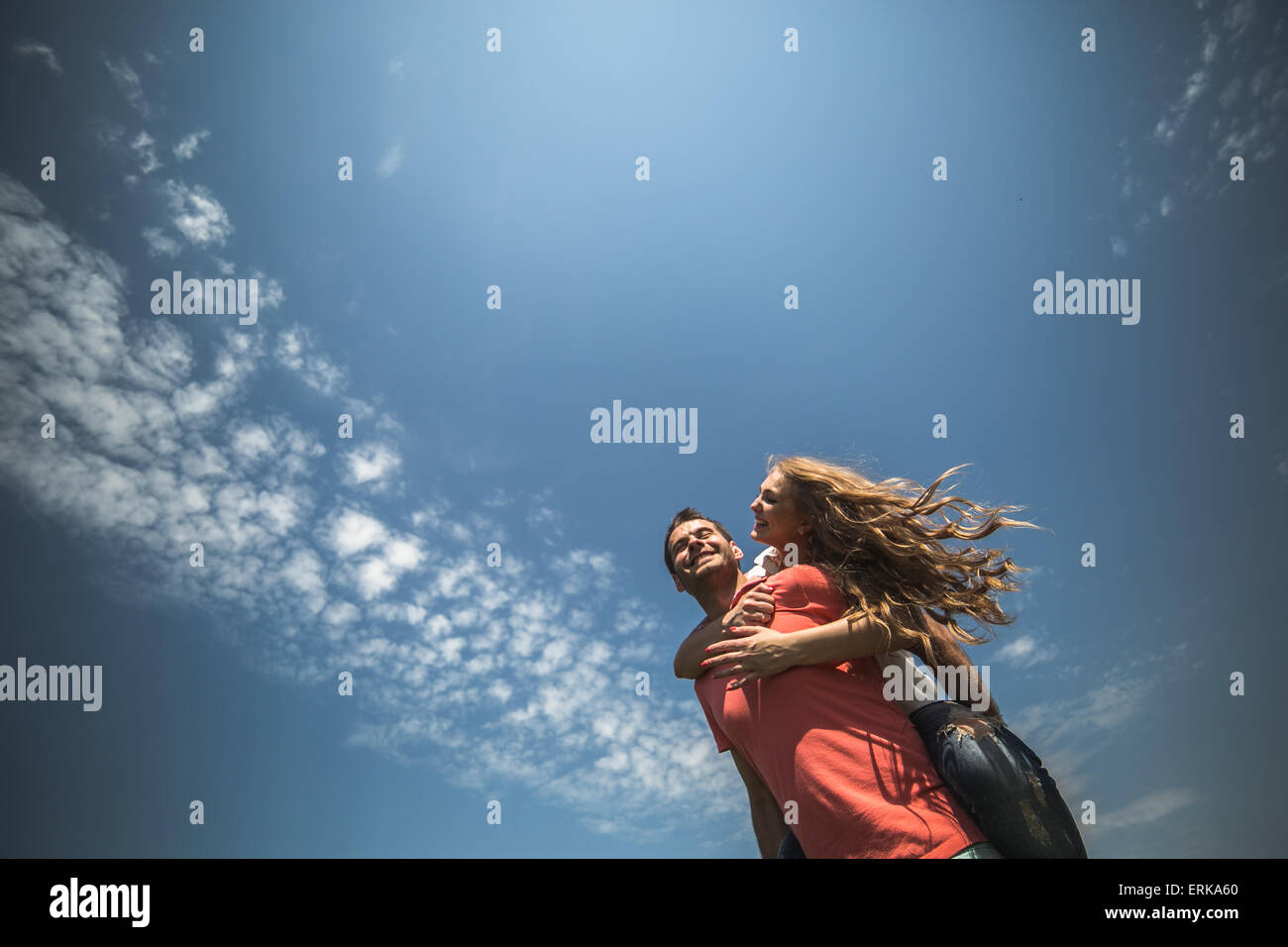 Paar, umarmen Stockbild