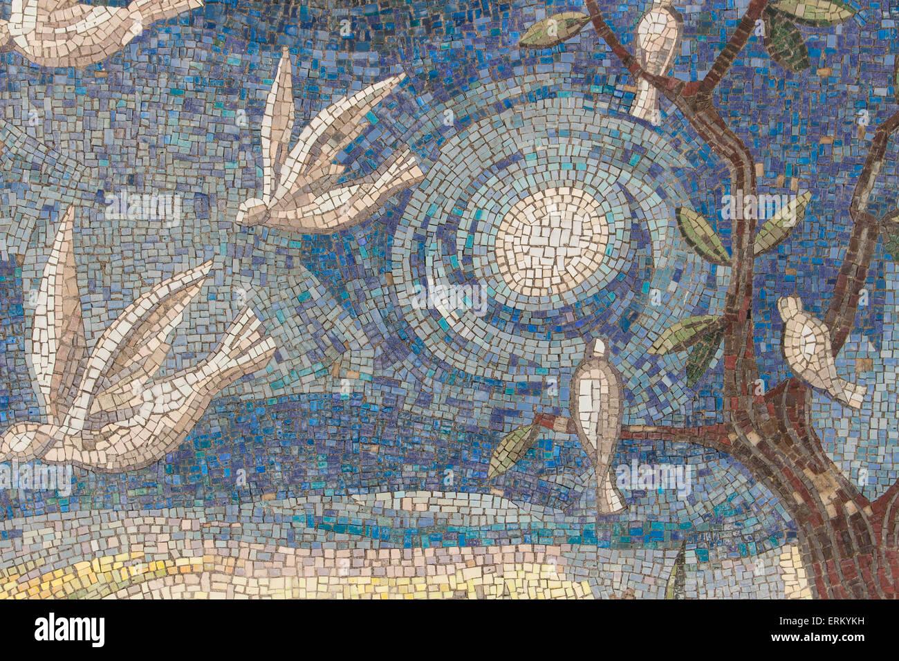 Mosaik Fliesen Hintergrund. Mosaik Wand Im Modernen Stil.