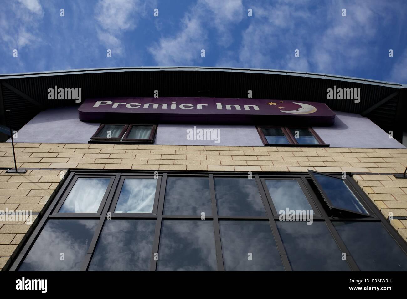 Außenaufnahme des Premier Inn in Leeds Stockbild