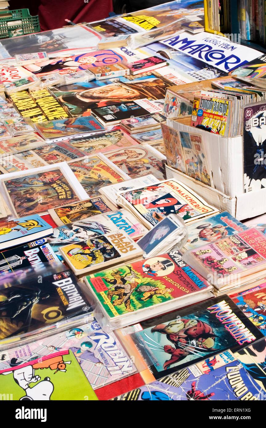Comic Comic Messe Sammler Sammler Sammlung messen Hobby Hobbys sammeln Sammlungen Marvel dc amerikanische Cartoon Stockbild