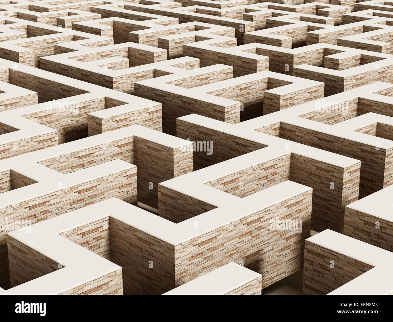 Labyrinth von verschwindenden Perspektive. Stockbild